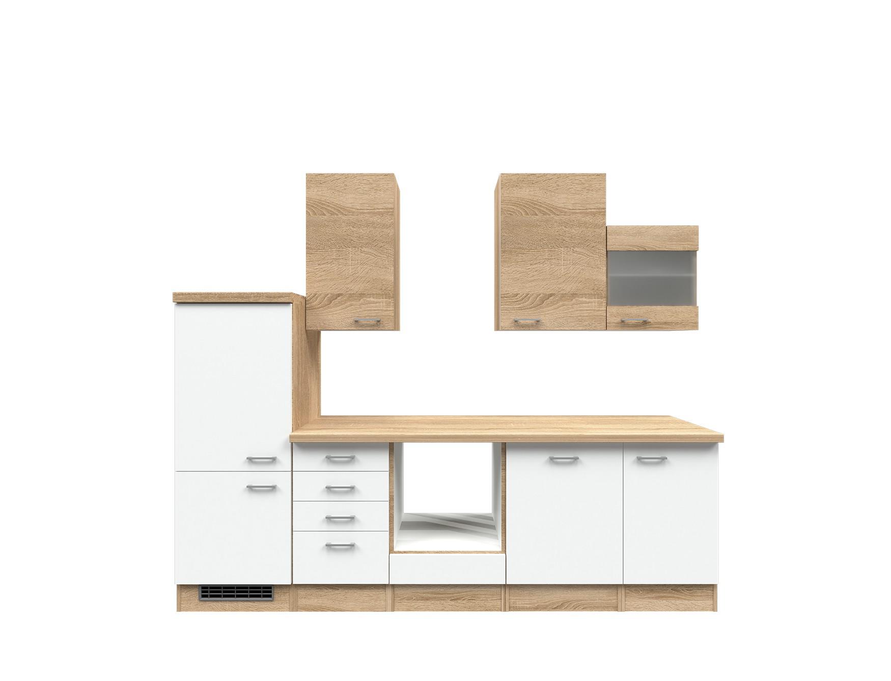 k chenzeile rom k chen leerblock mit midi umbauschrank breite 280 cm wei k che k chenzeilen. Black Bedroom Furniture Sets. Home Design Ideas