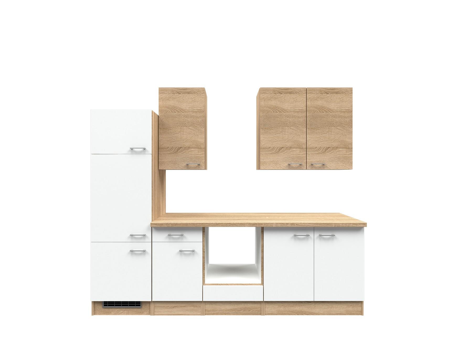 k chenzeile rom k chen leerblock breite 270 cm wei k che k chenzeilen. Black Bedroom Furniture Sets. Home Design Ideas