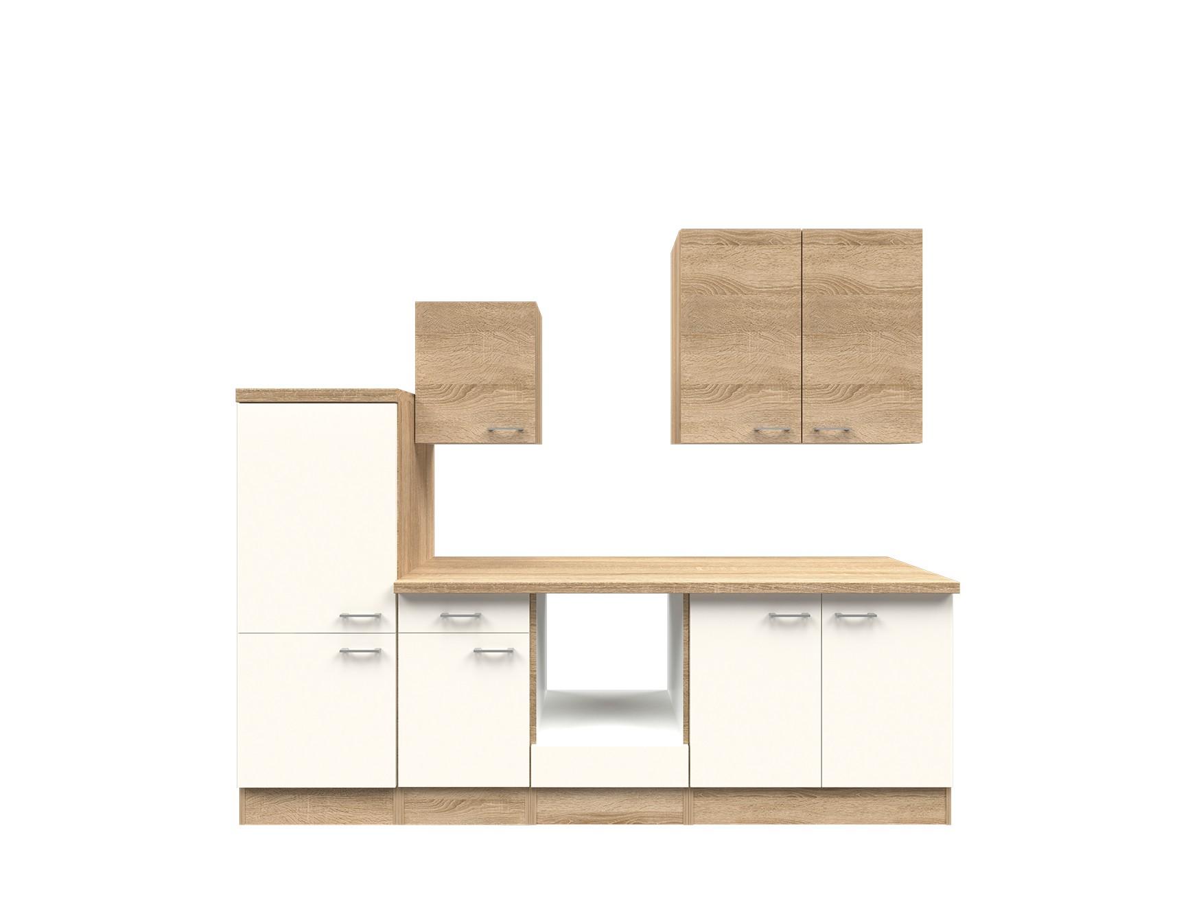 k chenzeile rom k chen leerblock mit midi umbauschrank breite 270 cm wei k che k chenzeilen. Black Bedroom Furniture Sets. Home Design Ideas