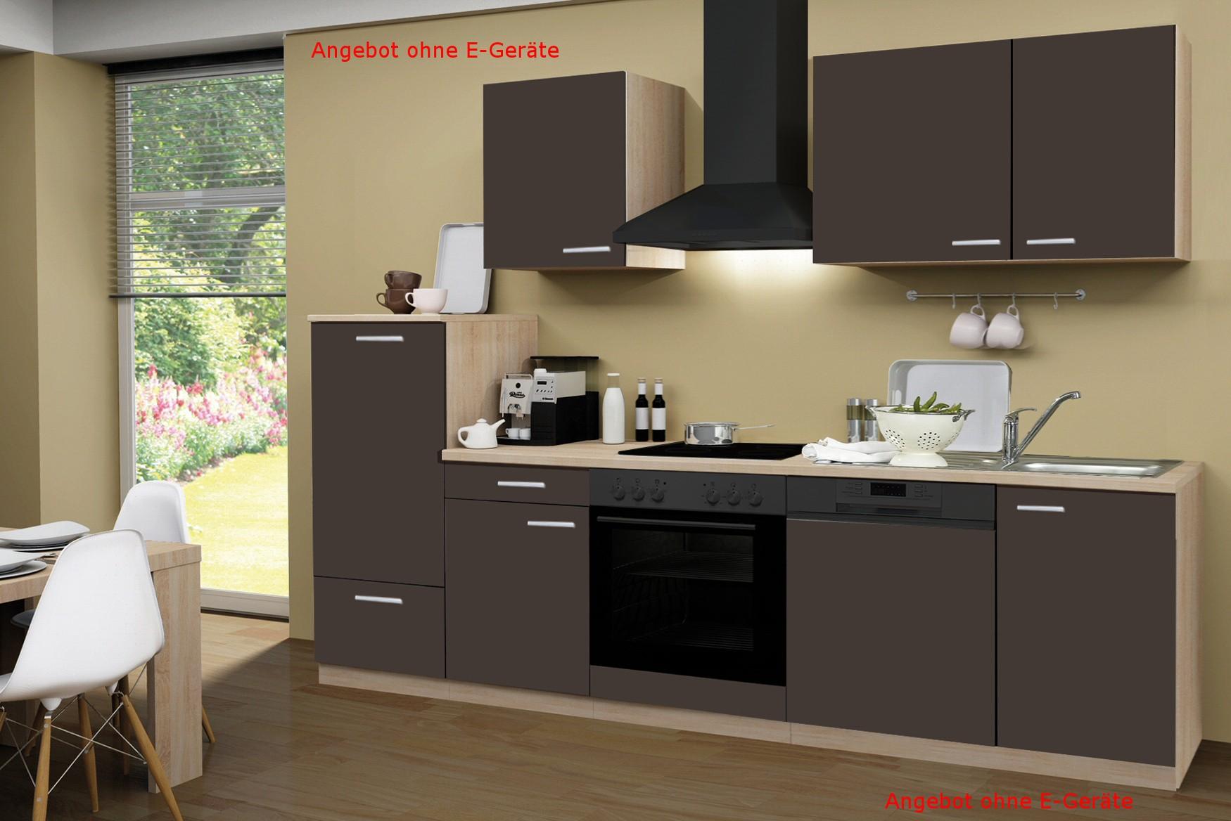 k chenzeile g teborg k chen leerblock breite 280 cm schoko braun k che g teborg. Black Bedroom Furniture Sets. Home Design Ideas