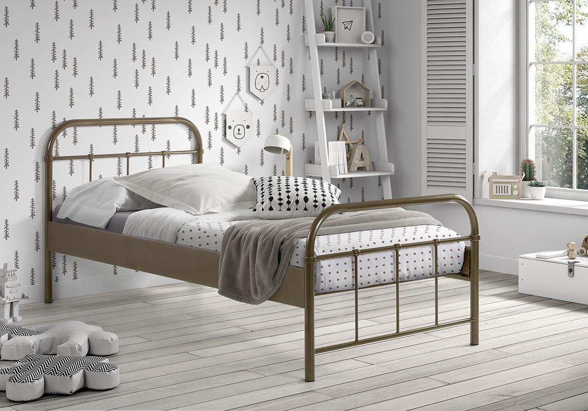 metallbett boston liegefl che 90 x 200 cm grau wohnen betten. Black Bedroom Furniture Sets. Home Design Ideas