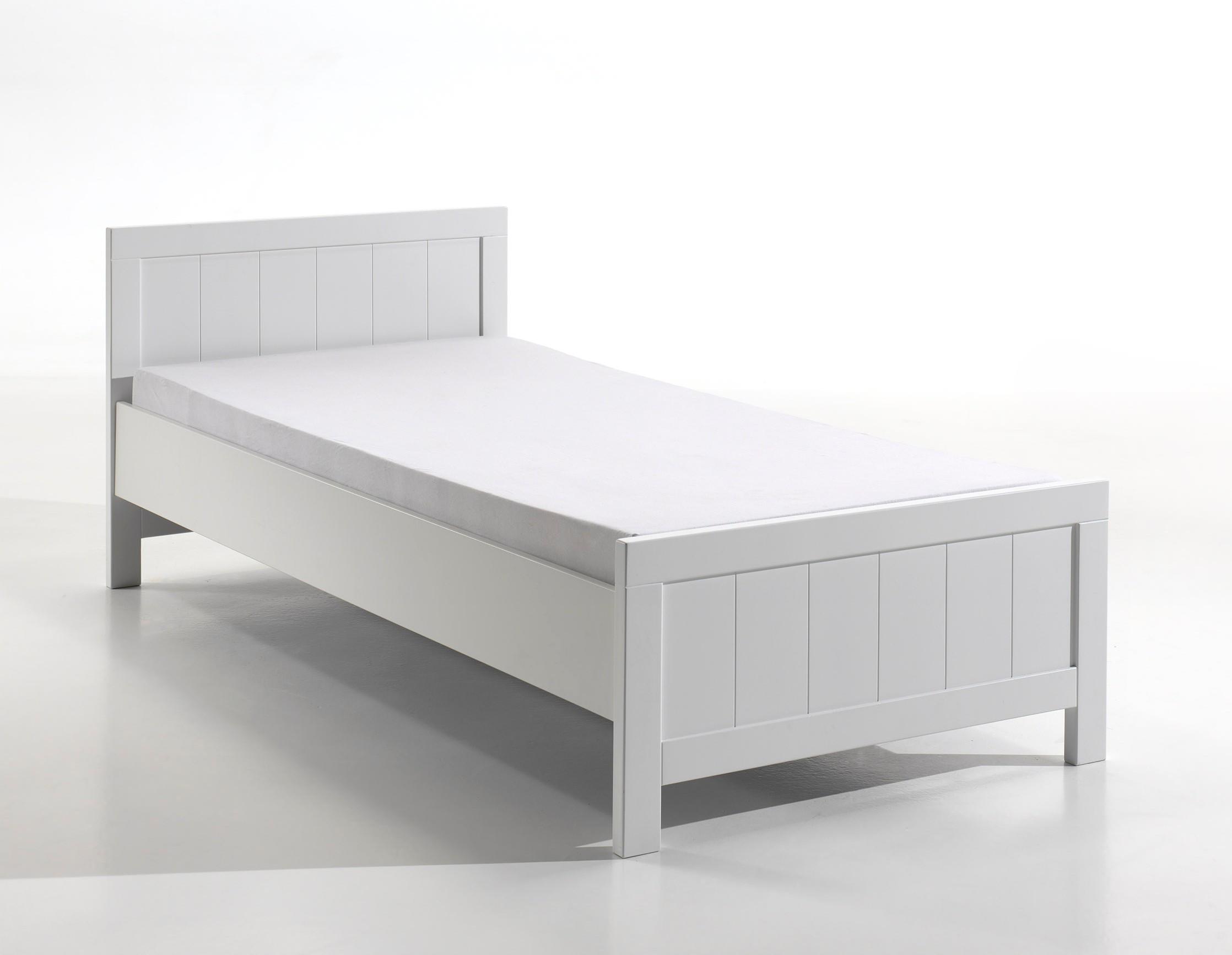 einzelbett erik liegefl che 90 x 200 cm wei wohnen betten. Black Bedroom Furniture Sets. Home Design Ideas