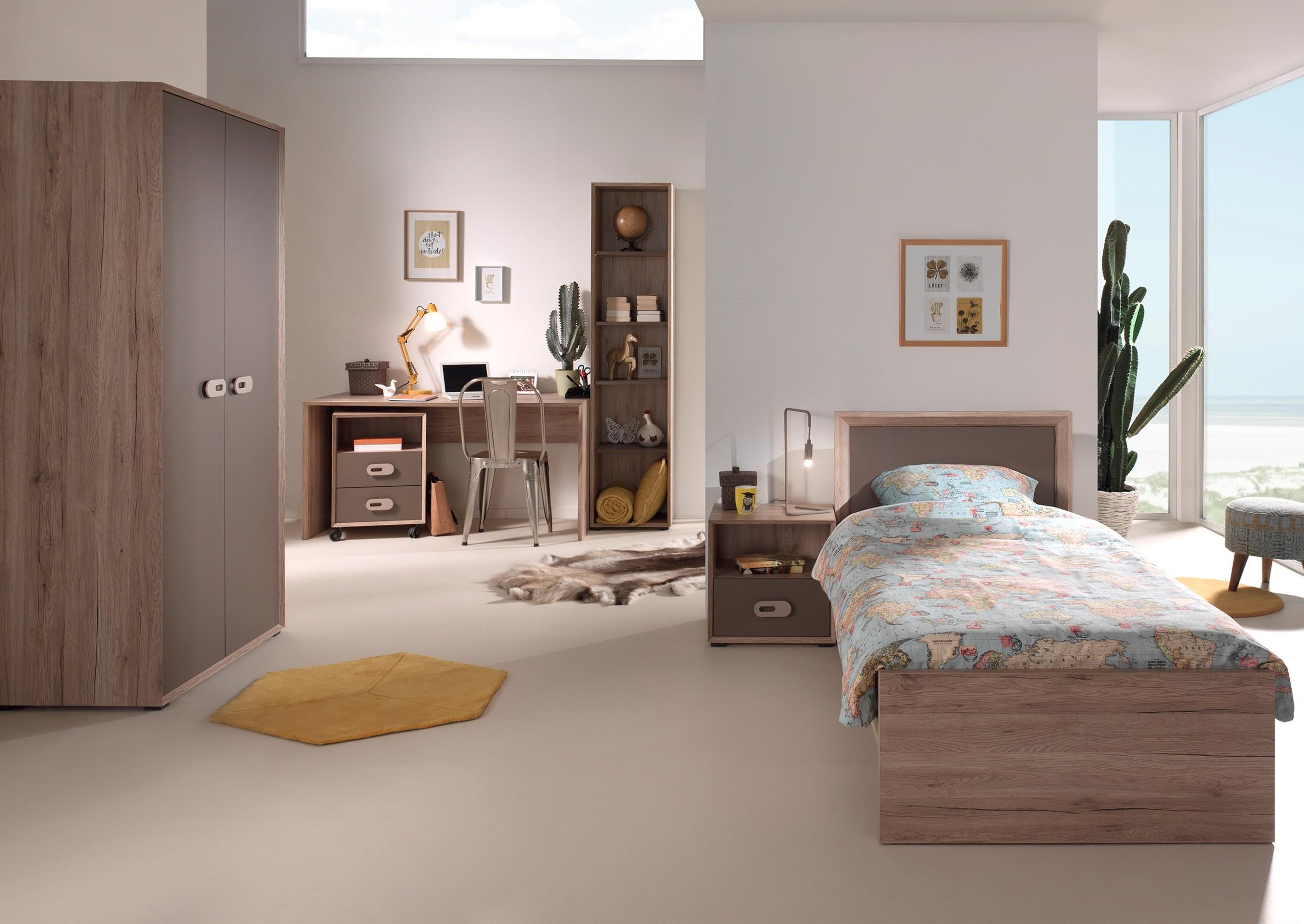Jugendzimmer emma 6 teilig mit kleiderschrank 2 t rig for Jugendzimmer mit 2 betten