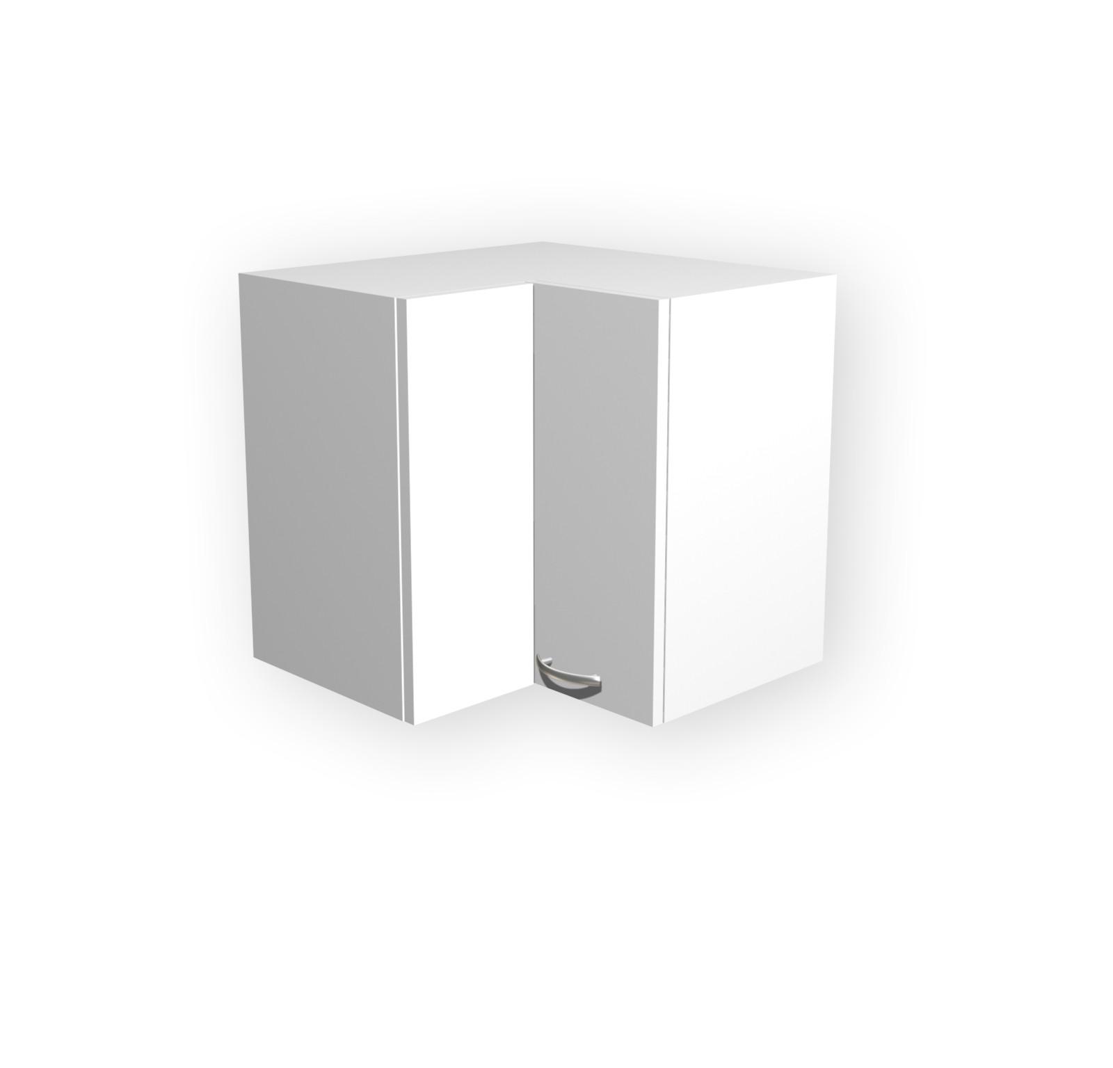 Küchen-Eckhängeschrank UNNA - 2-türig - 60 cm breit - Weiß Küche | {Eck hängeschrank küche 32}