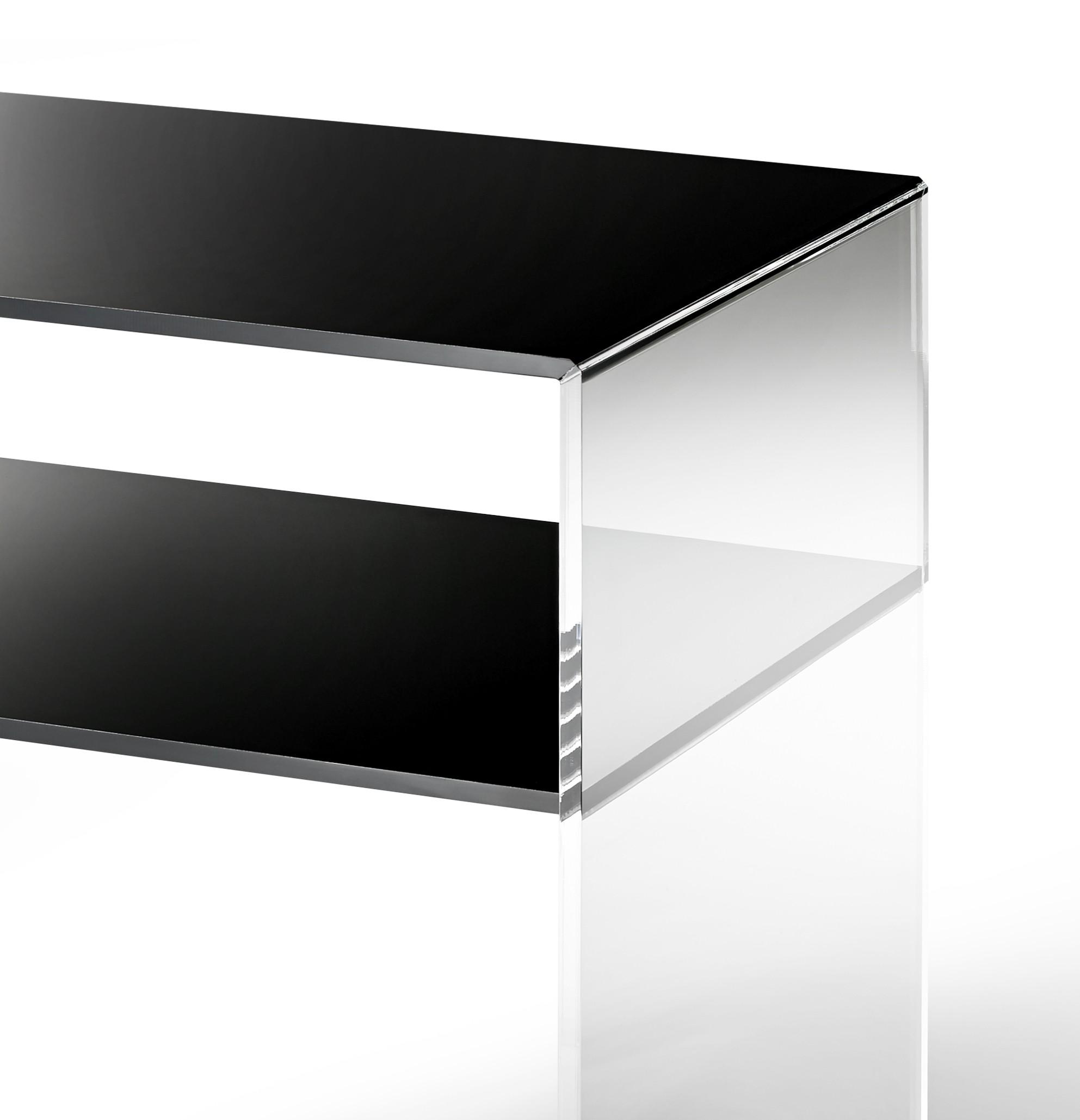 konsole las vegas breite 50 cm acrylglas schwarz wohnen las vegas. Black Bedroom Furniture Sets. Home Design Ideas