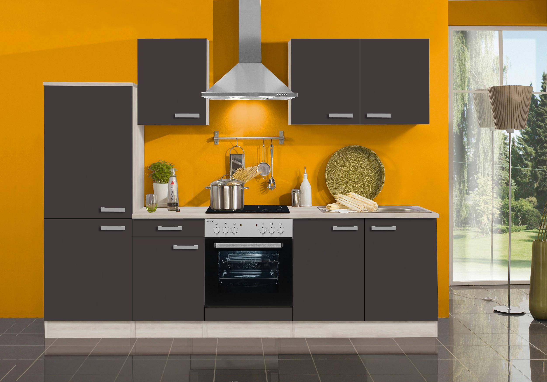 k chenzeile barcelona vario 7 1 k che mit e ger ten breite 270 cm grau k che k chenzeilen. Black Bedroom Furniture Sets. Home Design Ideas