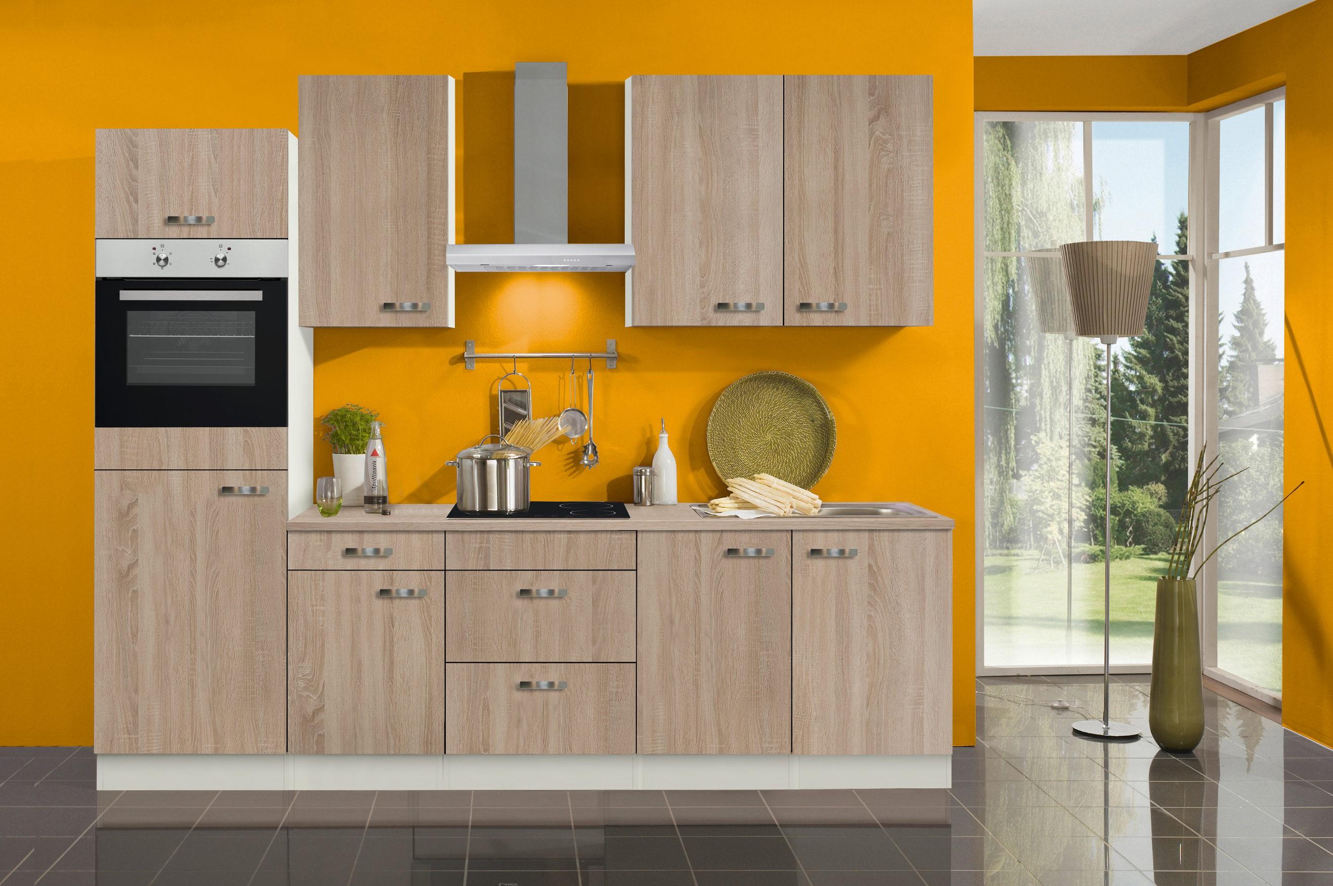 k chenzeile toledo vario 9 k che mit e ger ten breite 270 cm eiche k che k chenzeilen. Black Bedroom Furniture Sets. Home Design Ideas
