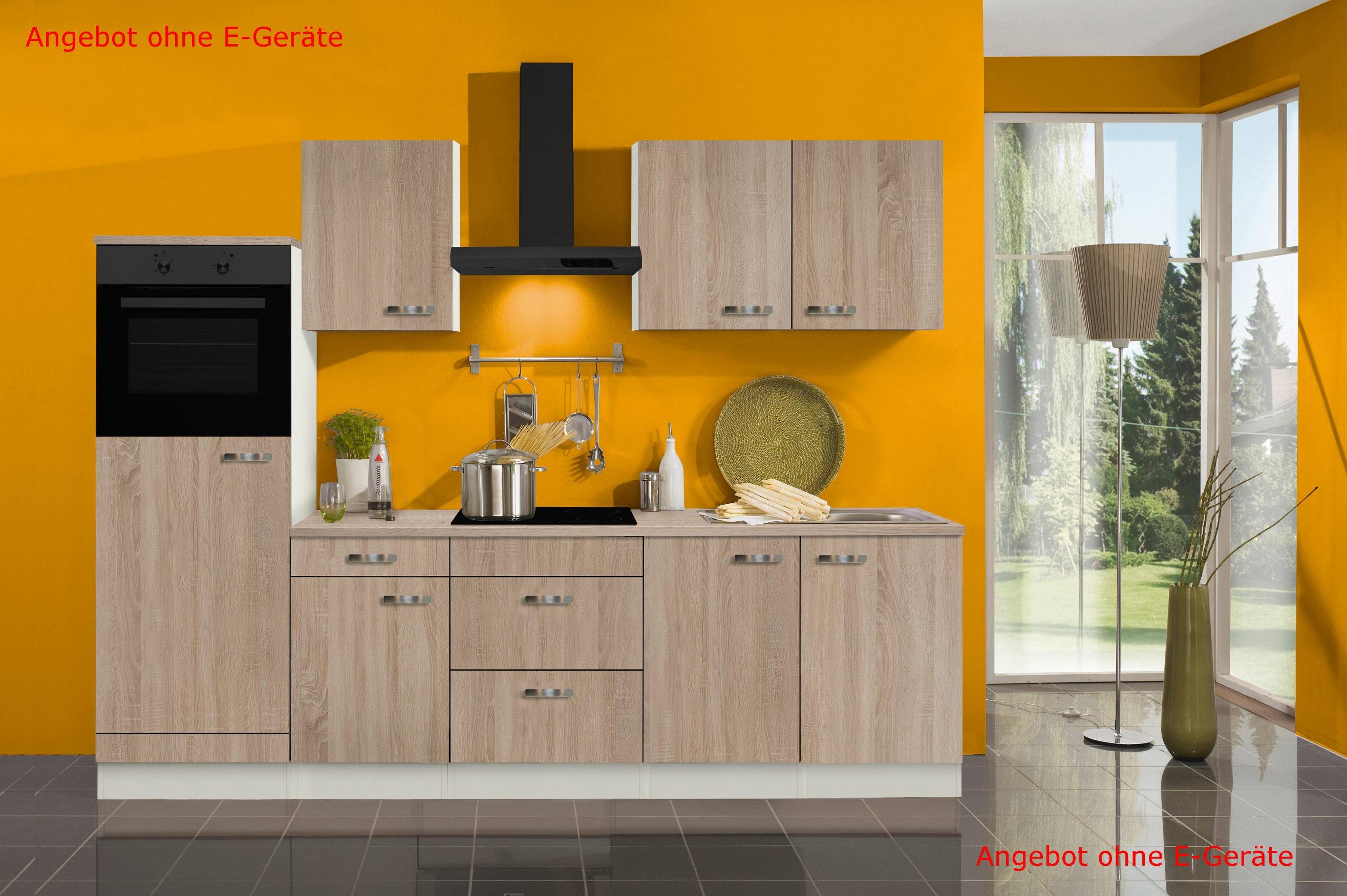 k chenzeile toledo vario 11 k chen leerblock breite 270 cm eiche k che k chenzeilen. Black Bedroom Furniture Sets. Home Design Ideas