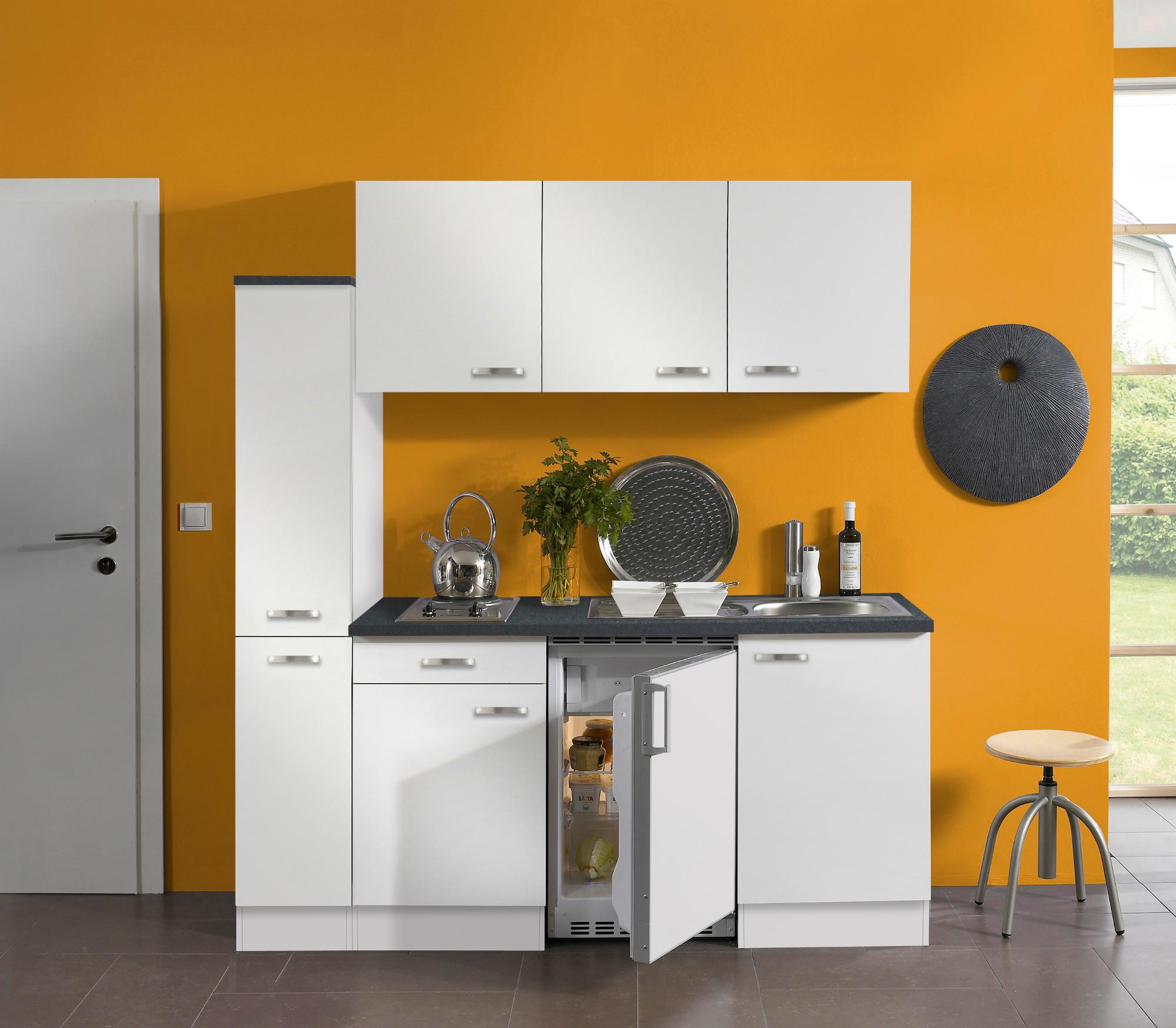 singlek che granada mit elektro kochfeld 9 teilig breite 180 cm wei k che singlek chen. Black Bedroom Furniture Sets. Home Design Ideas