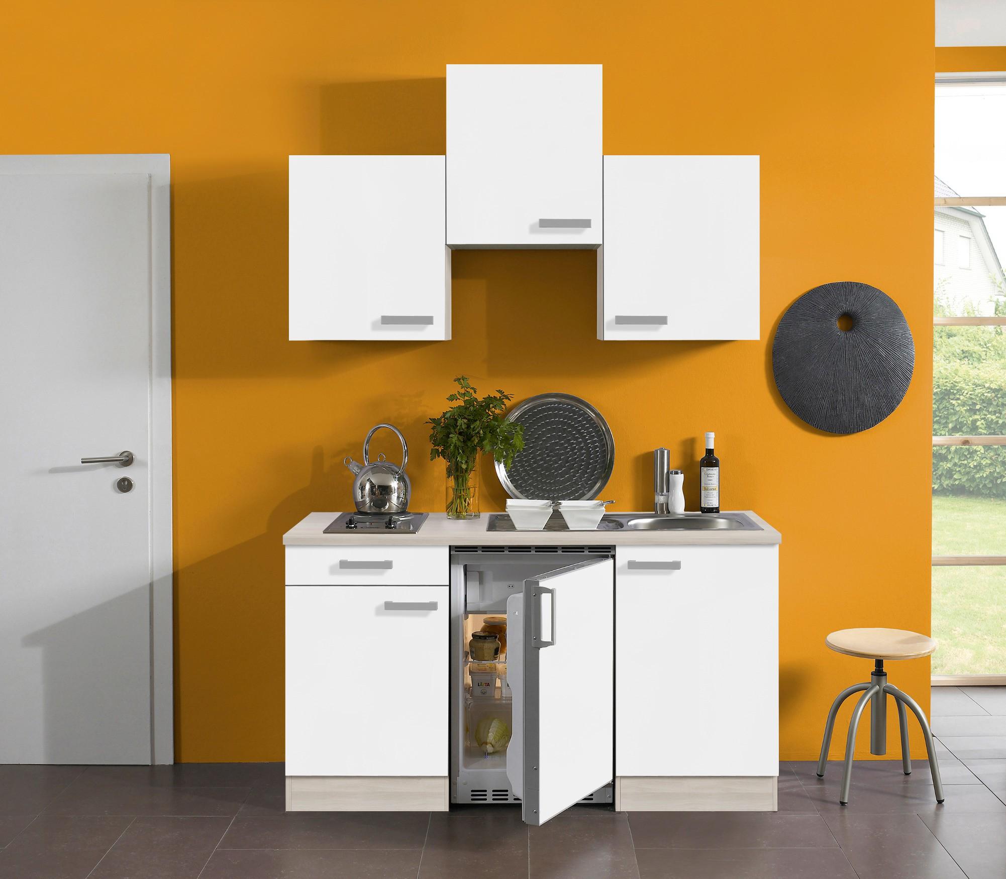 singlek che barcelona vario 1 mit elektro kochfeld breite 150 cm wei k che singlek chen. Black Bedroom Furniture Sets. Home Design Ideas