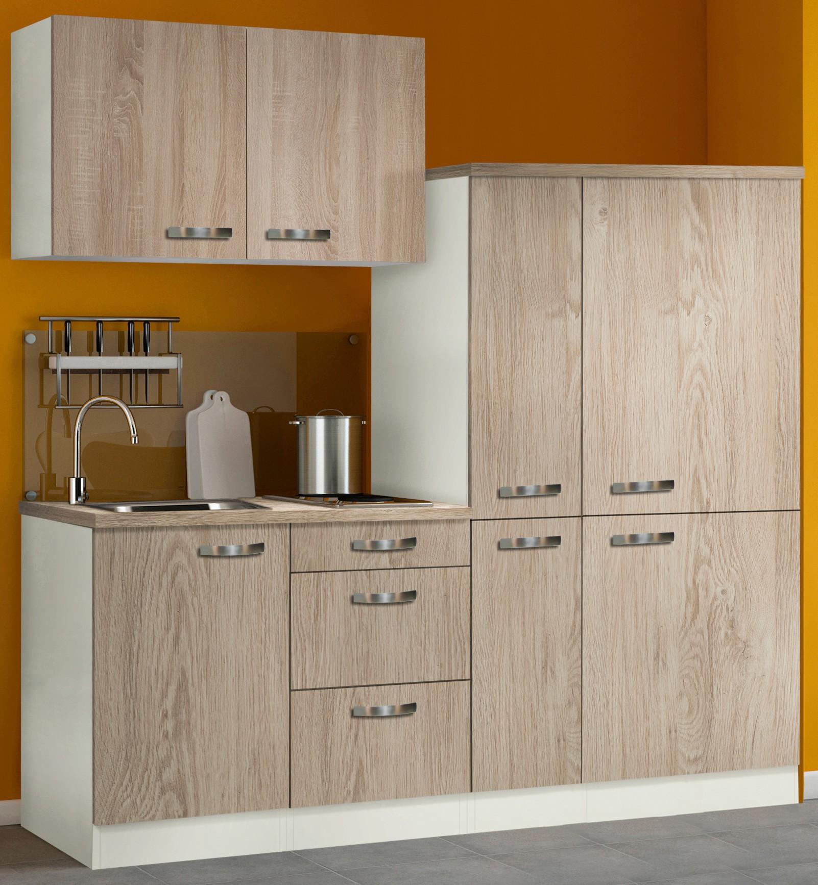 Singlekuche toledo mit elektro kochfeld breite 190 cm for Singleküche mit elektroger ten