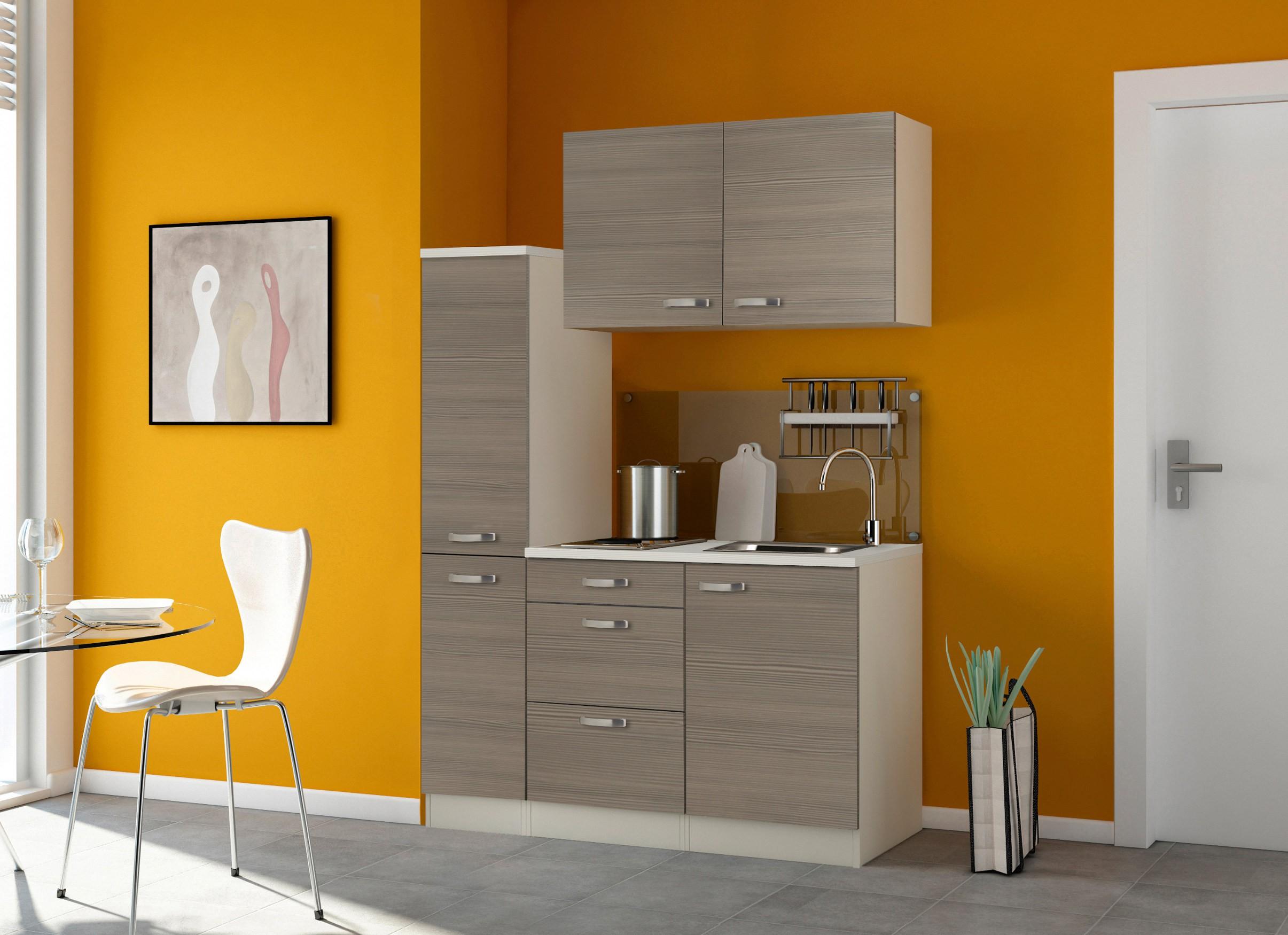 singlek che toledo mit elektro kochfeld breite 130 cm pinie nougat k che singlek chen. Black Bedroom Furniture Sets. Home Design Ideas
