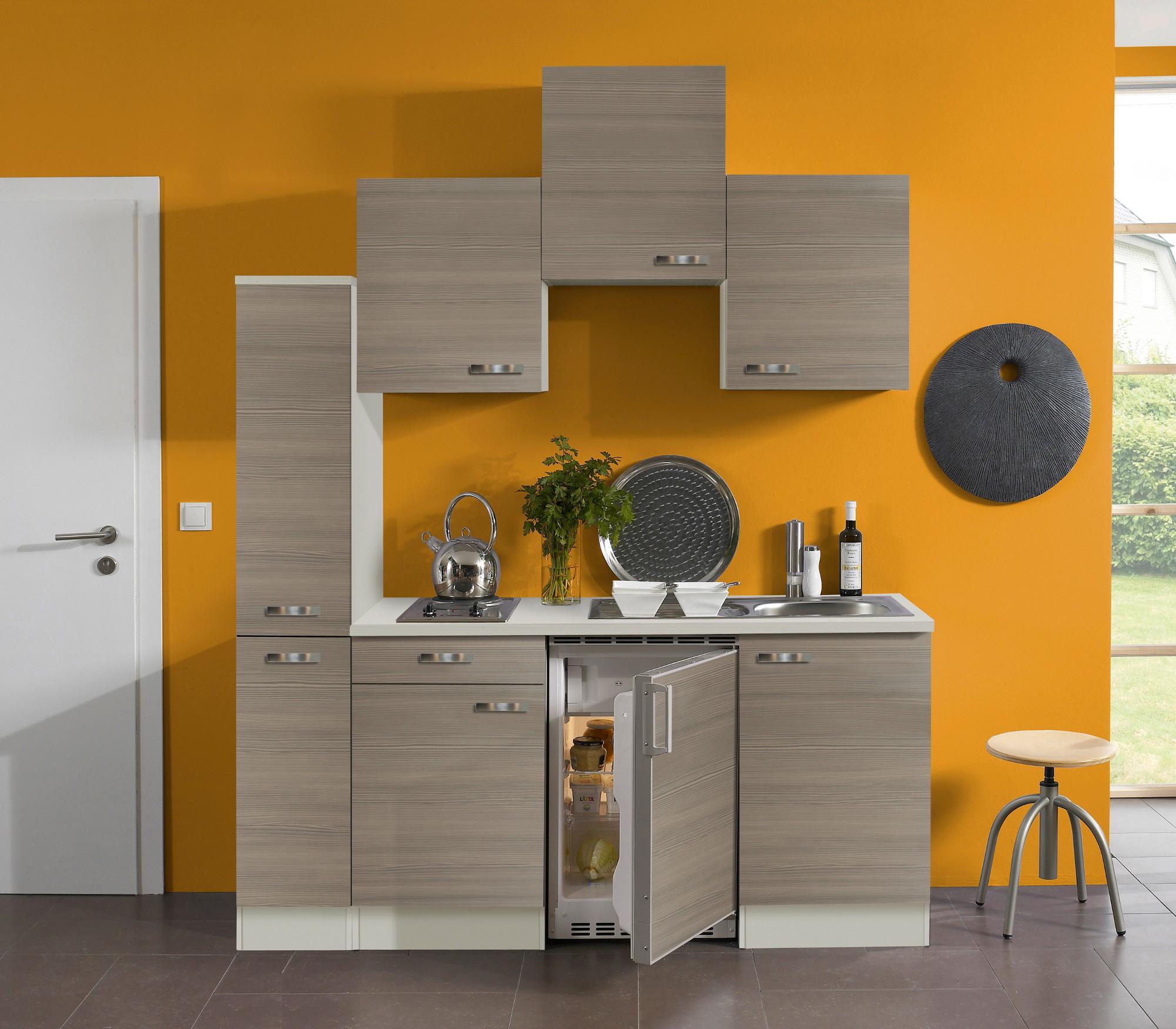 singlek che toledo vario 1 mit elektro kochfeld breite 180 cm pinie k che singlek chen. Black Bedroom Furniture Sets. Home Design Ideas