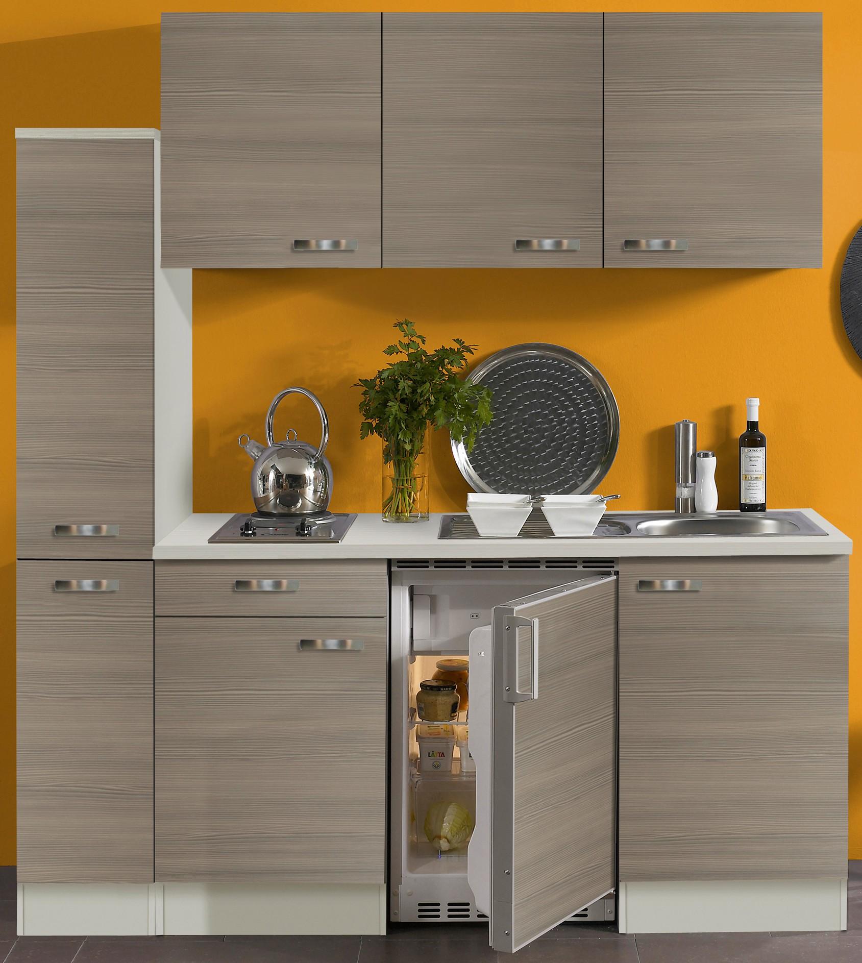 singlek che toledo mit elektro kochfeld 9 teilig breite 180 cm pinie k che singlek chen. Black Bedroom Furniture Sets. Home Design Ideas