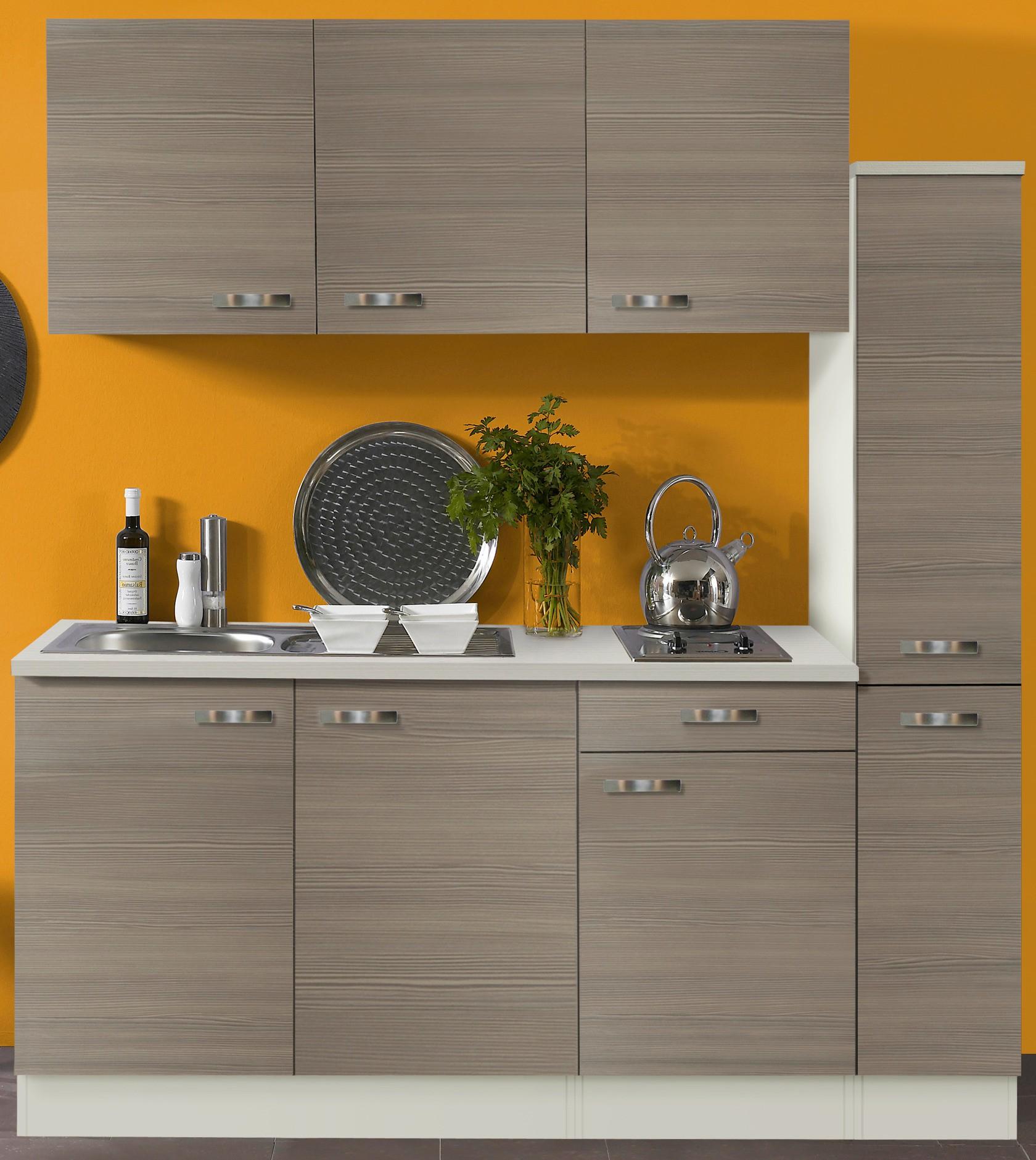 singlek che toledo mit elektro kochfeld 8 teilig breite 180 cm pinie k che singlek chen. Black Bedroom Furniture Sets. Home Design Ideas