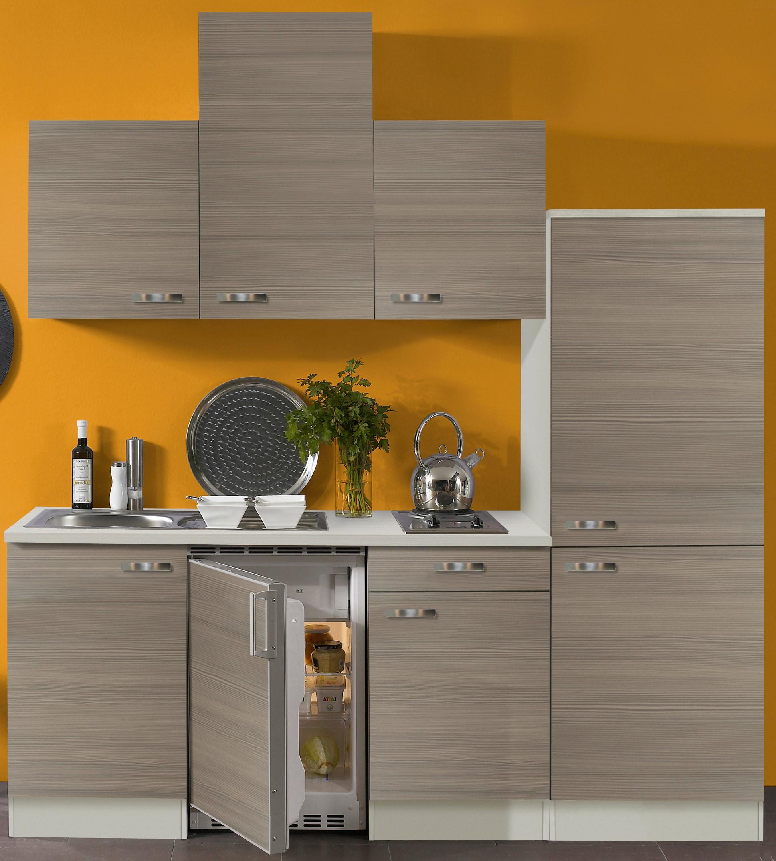 singlek che toledo vario 2 mit elektro kochfeld breite 210 cm pinie k che singlek chen. Black Bedroom Furniture Sets. Home Design Ideas