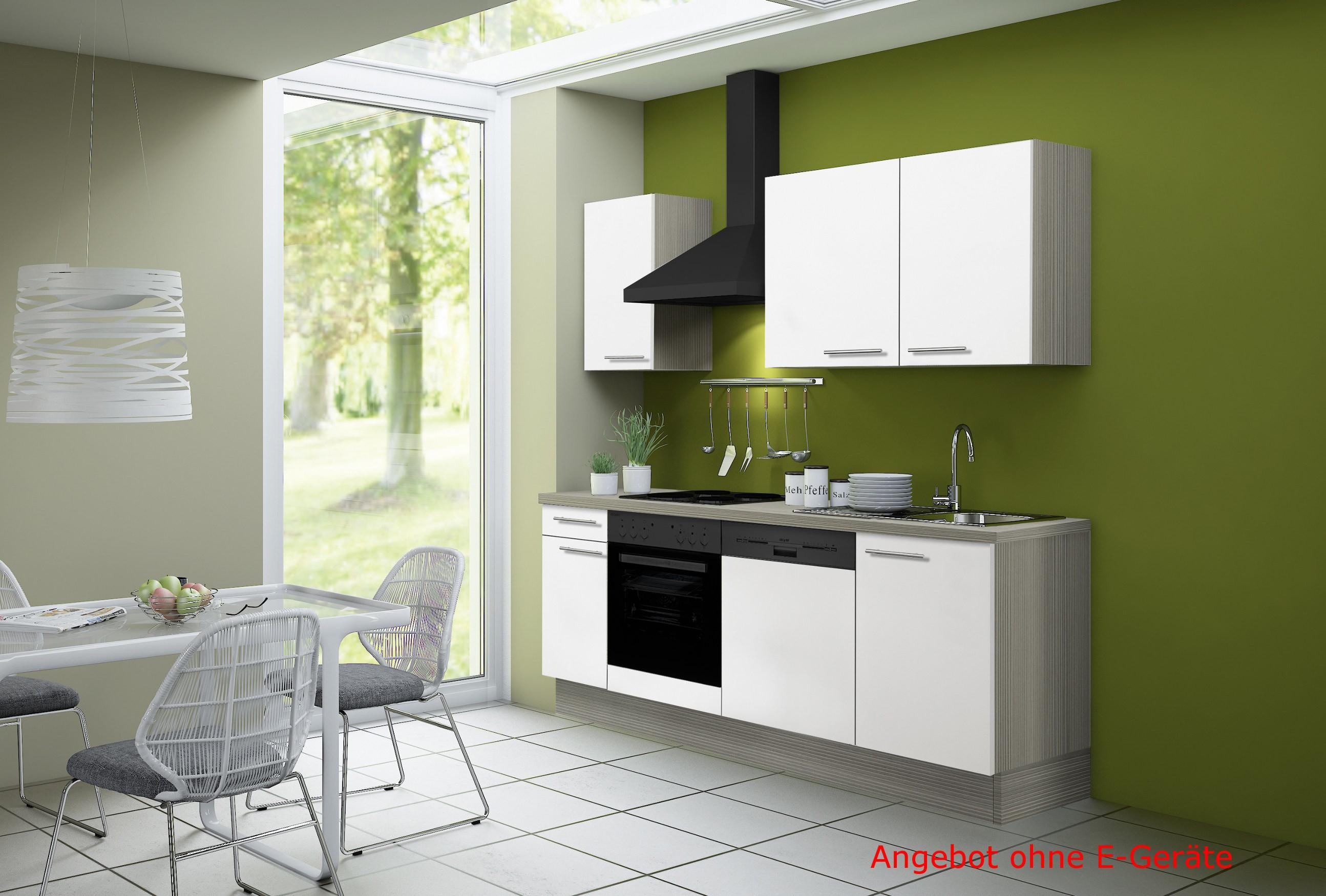 k chenzeile cadiz vario 2 k chen leerblock breite 210 cm wei k che k chenzeilen. Black Bedroom Furniture Sets. Home Design Ideas