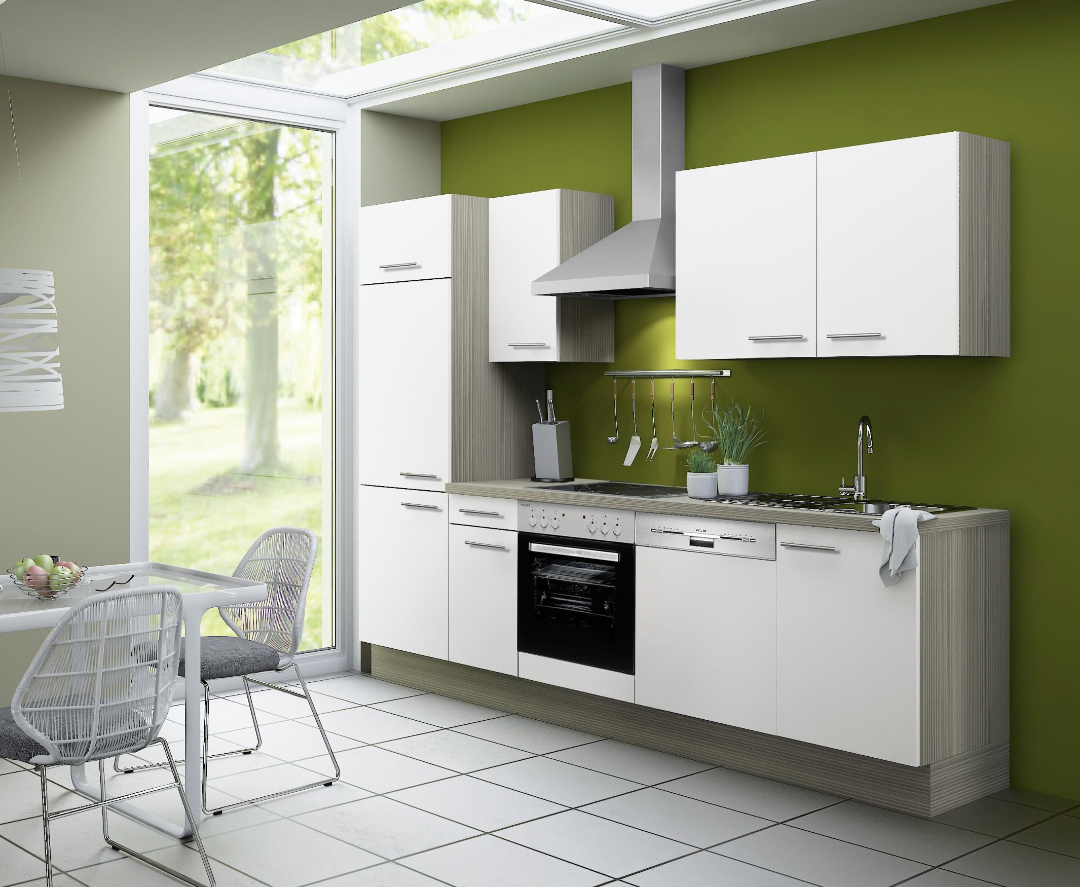 k chenzeile cadiz vario 1 1 k che mit e ger ten breite 270 cm wei k che k chenzeilen. Black Bedroom Furniture Sets. Home Design Ideas
