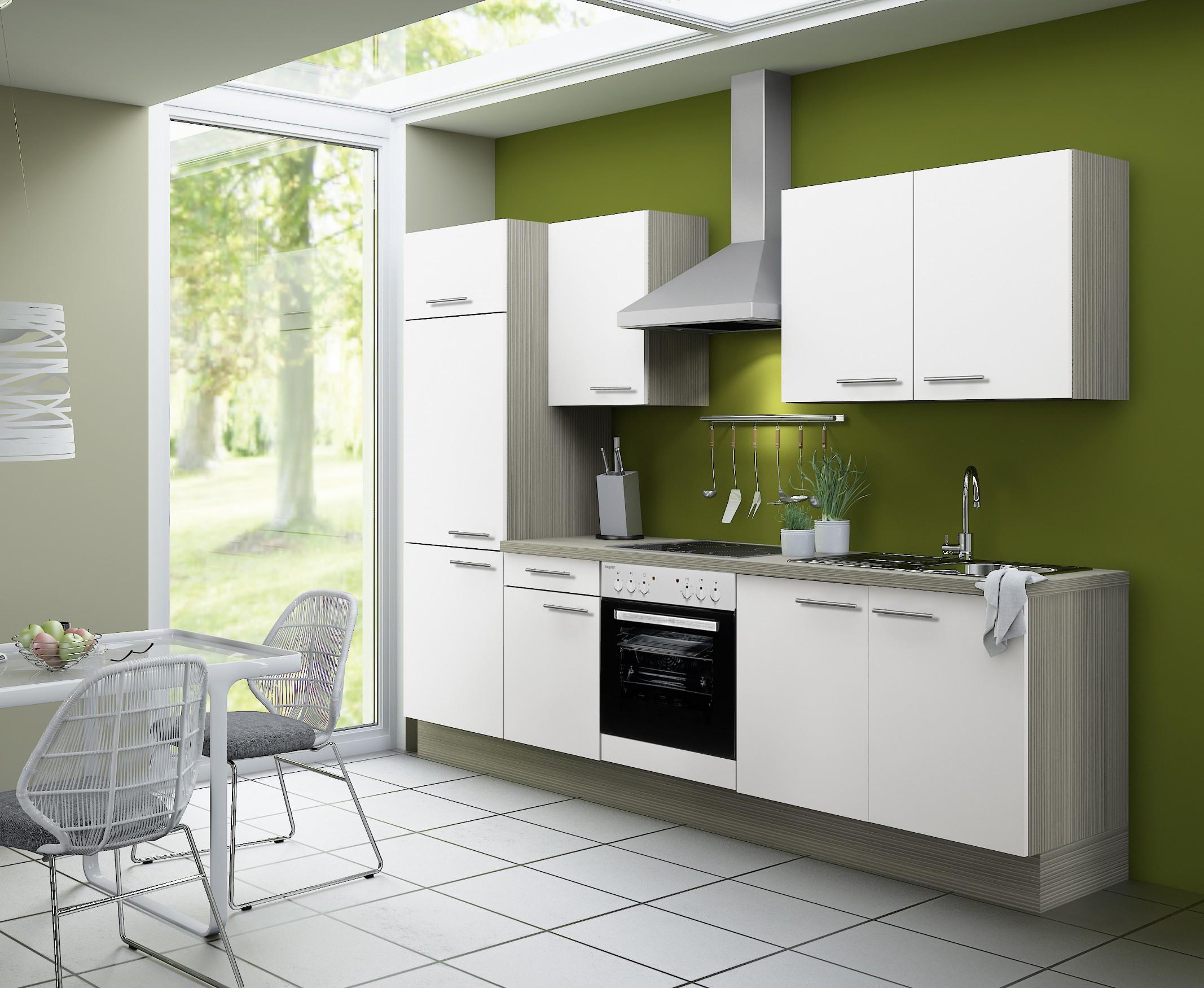 k chenzeile cadiz vario 2 1 k che mit e ger ten breite 270 cm wei k che k chenzeilen. Black Bedroom Furniture Sets. Home Design Ideas