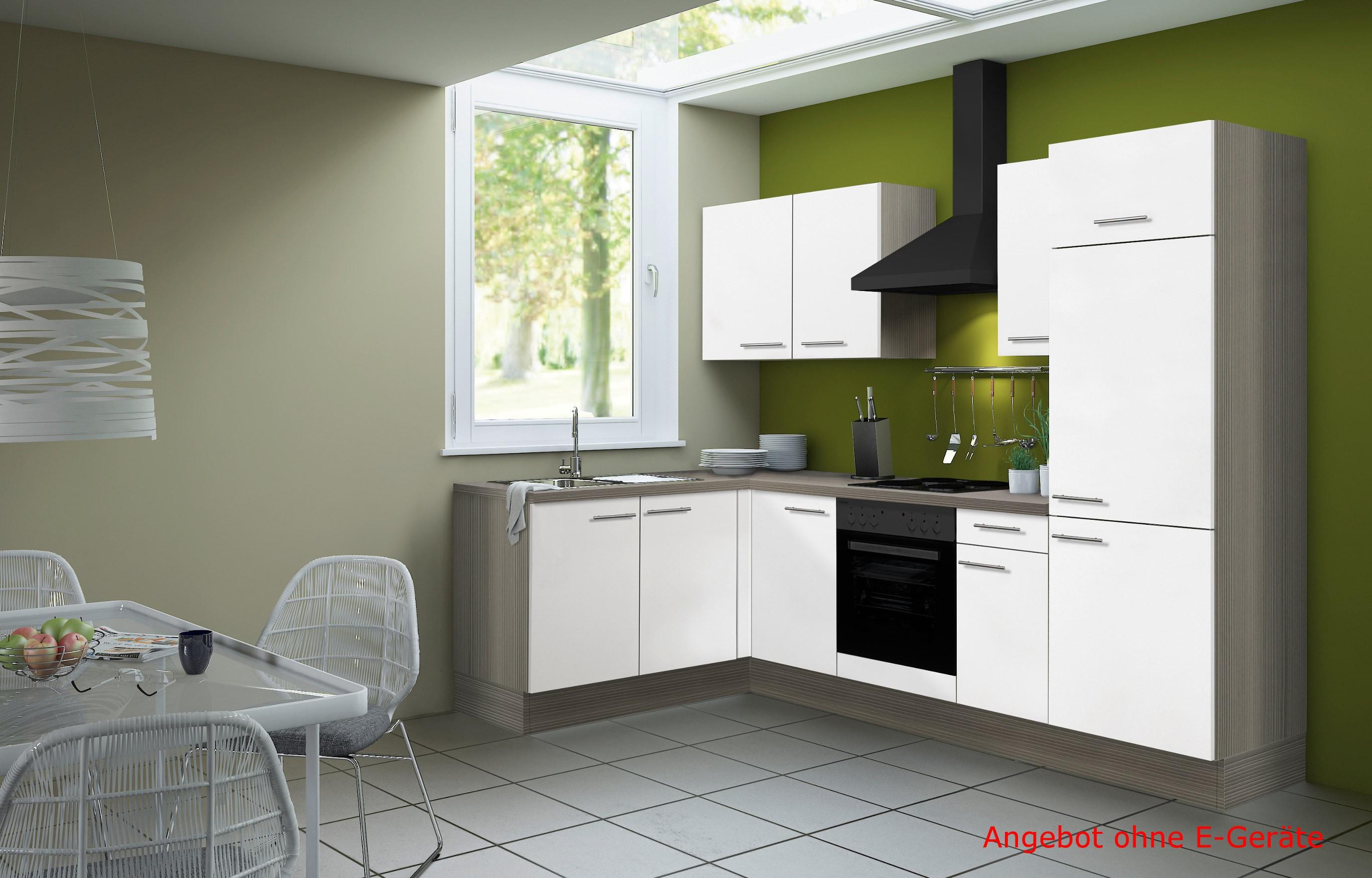 eckk che cadiz vario 1 l k che ohne e ger te breite 270 x 165 cm wei k che k chenzeilen. Black Bedroom Furniture Sets. Home Design Ideas