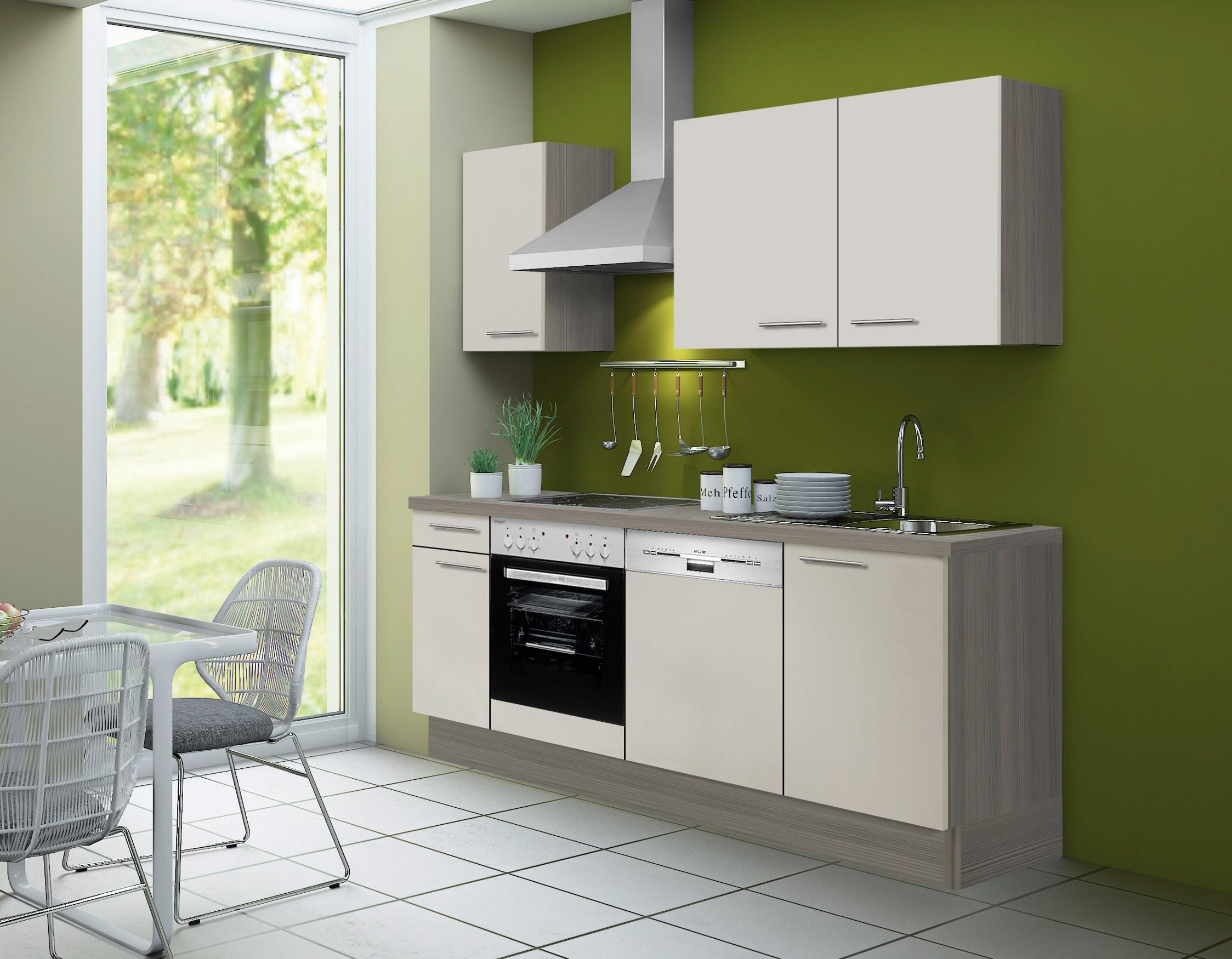 k chenzeile cadiz vario 2 1 k che mit e ger ten breite 210 cm beige k che k chenzeilen. Black Bedroom Furniture Sets. Home Design Ideas