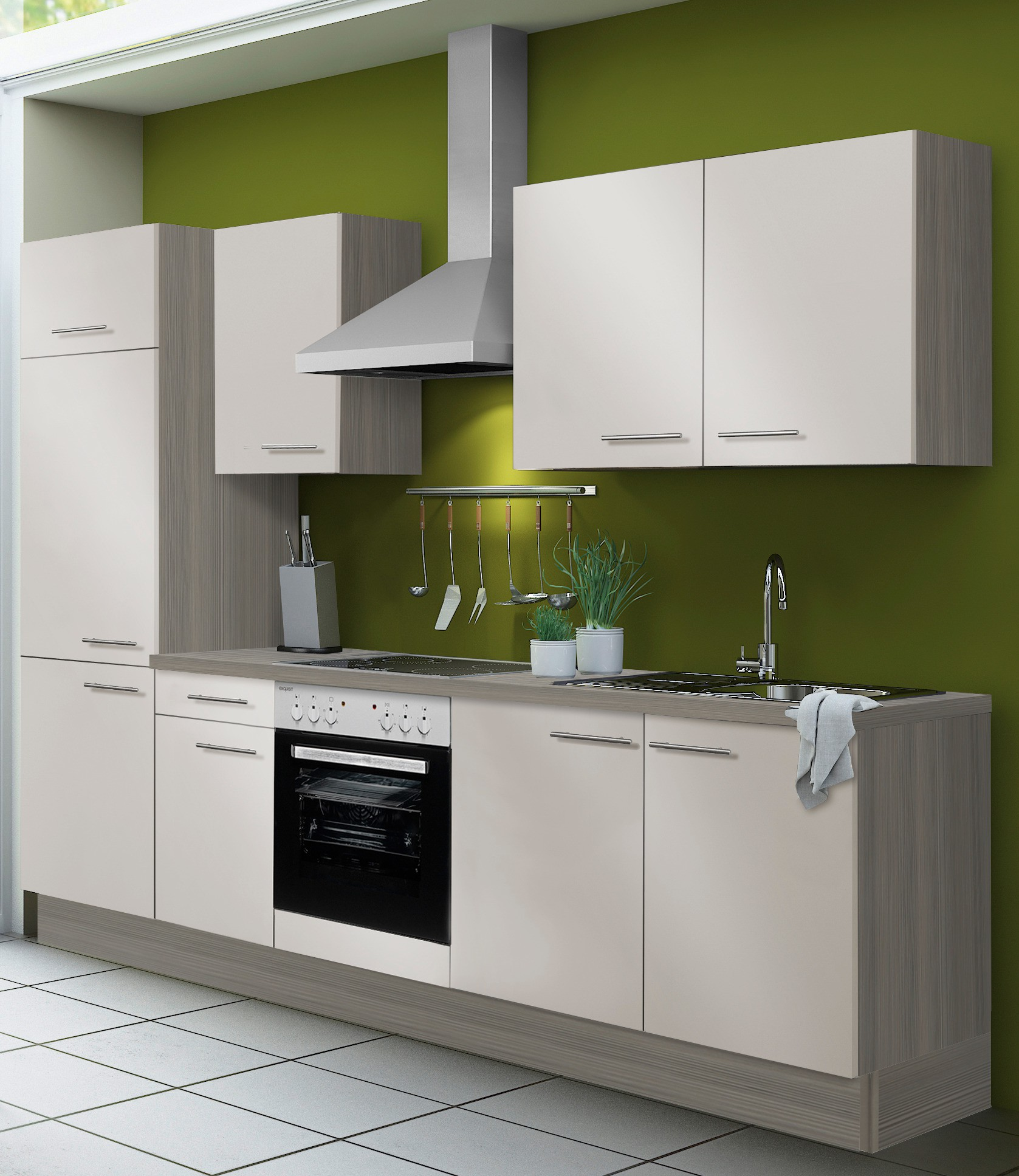 k chenzeile cadiz vario 2 k che mit e ger ten breite. Black Bedroom Furniture Sets. Home Design Ideas
