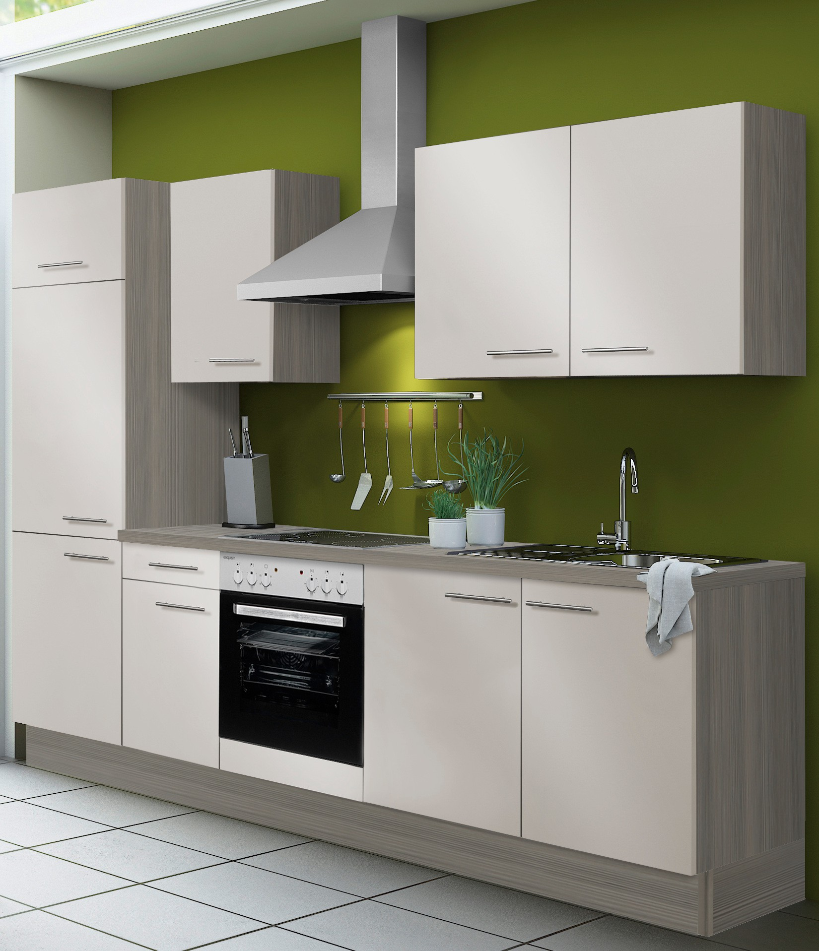 k chenzeile cadiz vario 2 1 k che mit e ger ten breite 270 cm beige k che k chenzeilen. Black Bedroom Furniture Sets. Home Design Ideas