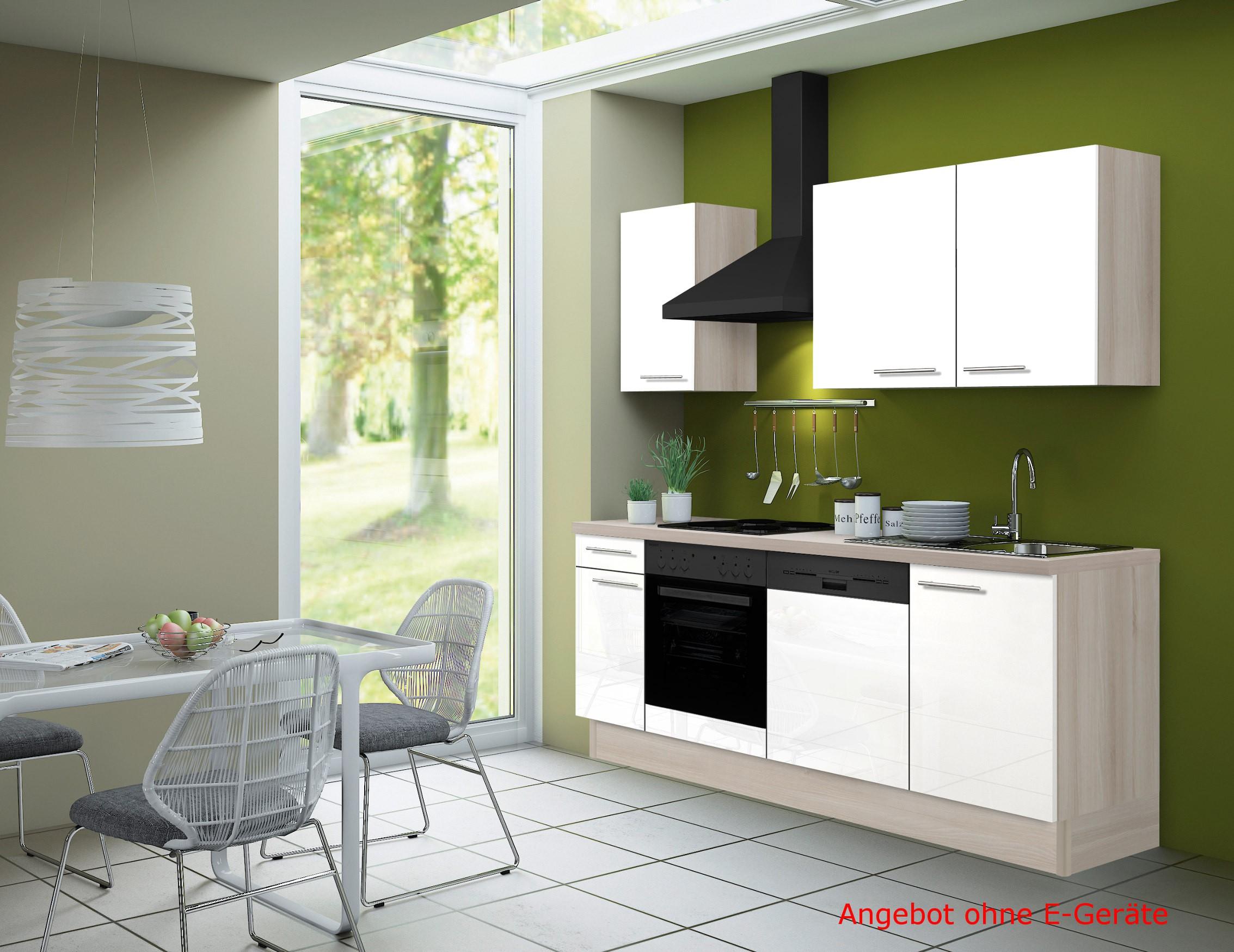 k chenzeile leon vario 2 k chen leerblock breite 210 cm wei k che k chenzeilen. Black Bedroom Furniture Sets. Home Design Ideas