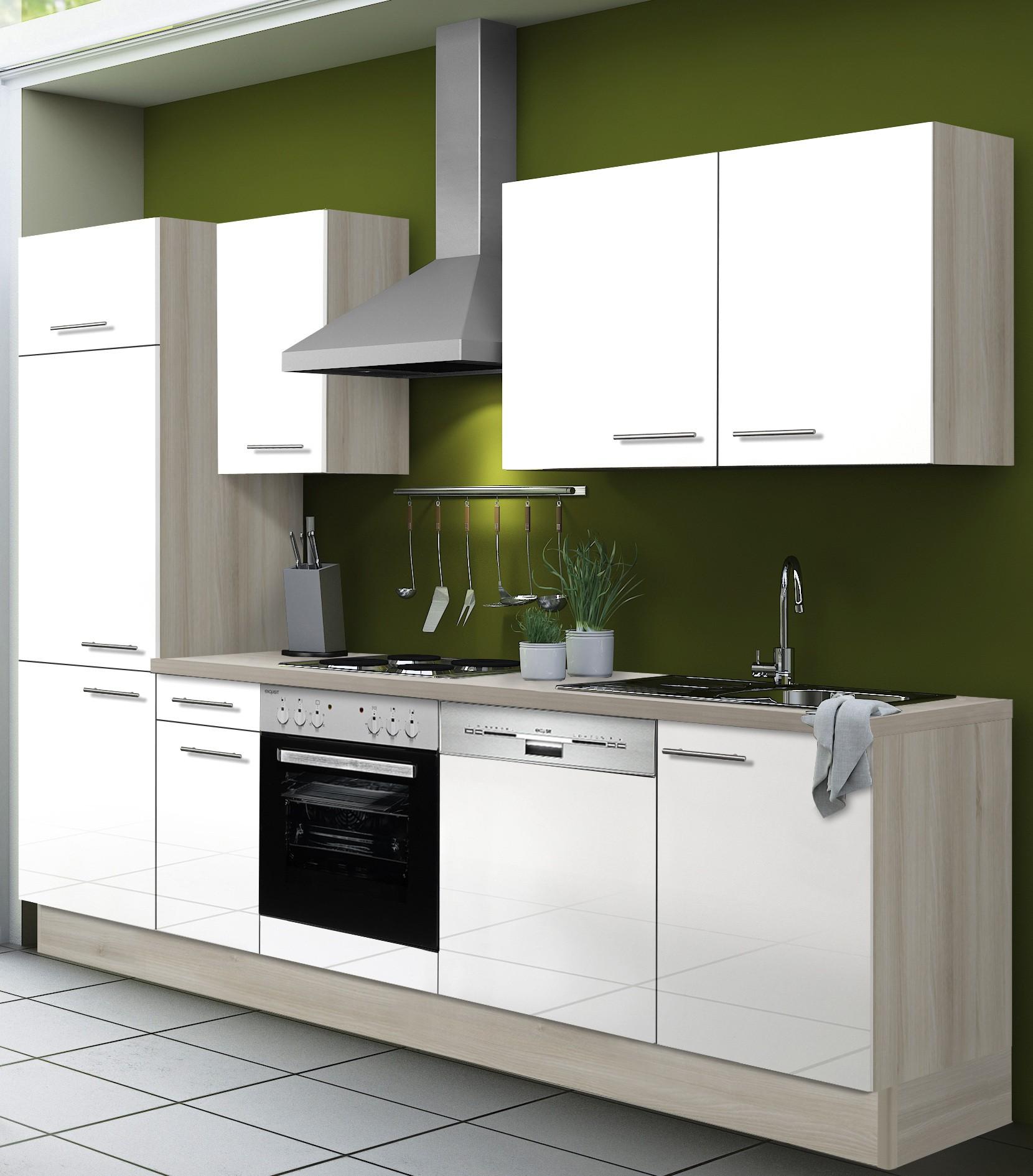 k chenzeile leon vario 1 k che mit e ger ten breite. Black Bedroom Furniture Sets. Home Design Ideas