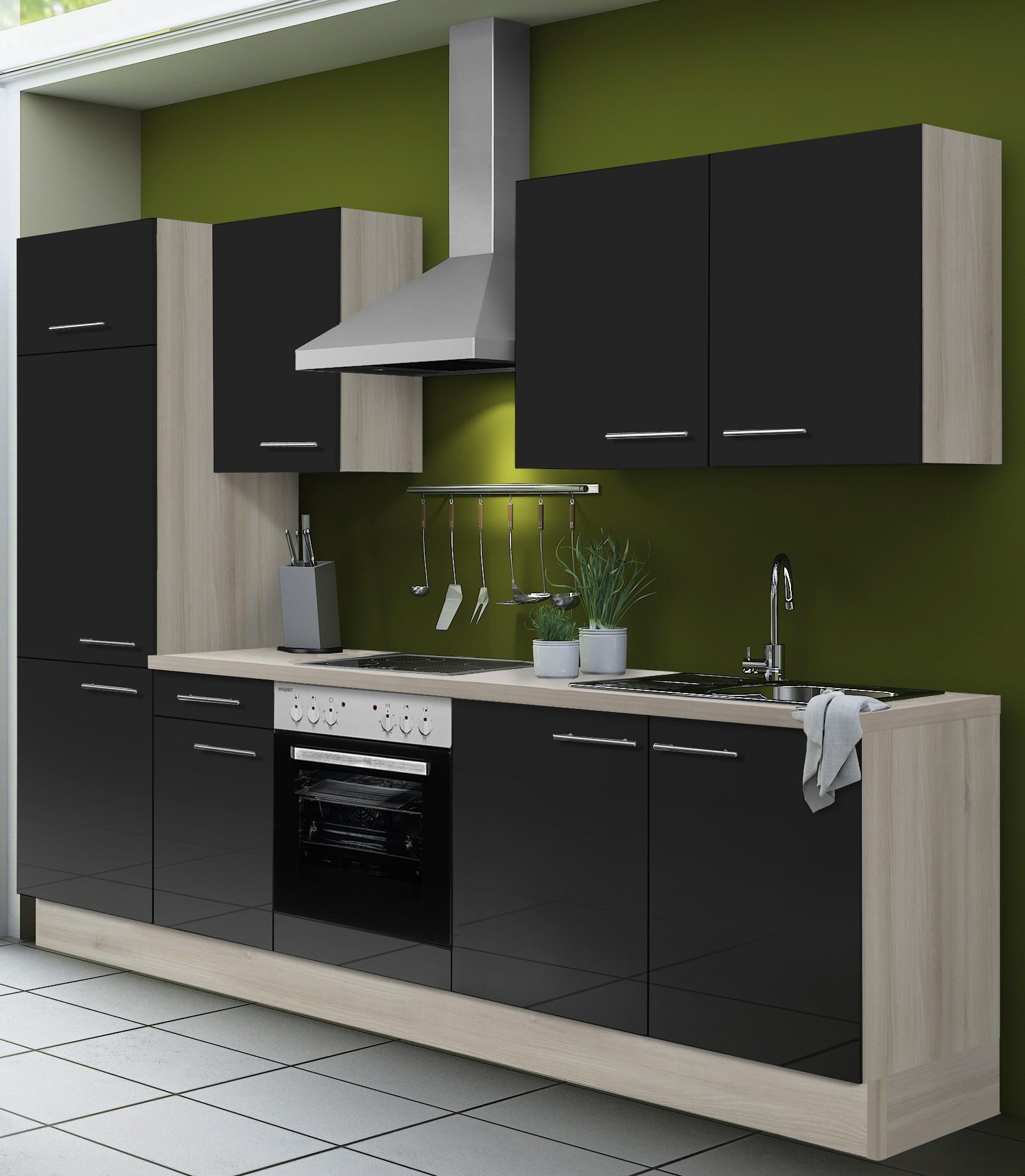 k chenzeile leon vario 2 1 k che mit e ger ten breite 270 cm braun k che k chenzeilen. Black Bedroom Furniture Sets. Home Design Ideas