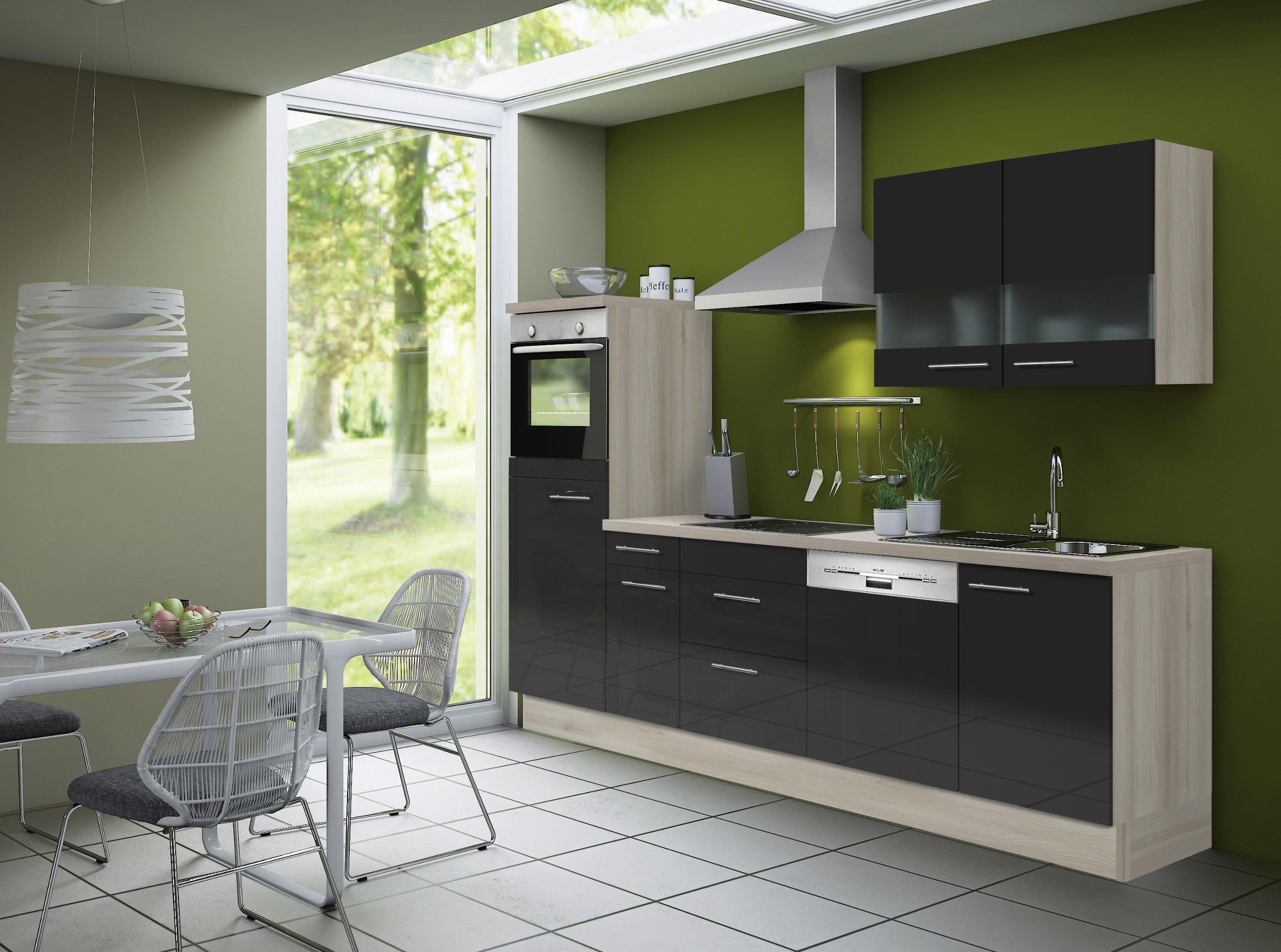k chenzeile leon vario 5 k che mit e ger ten breite. Black Bedroom Furniture Sets. Home Design Ideas