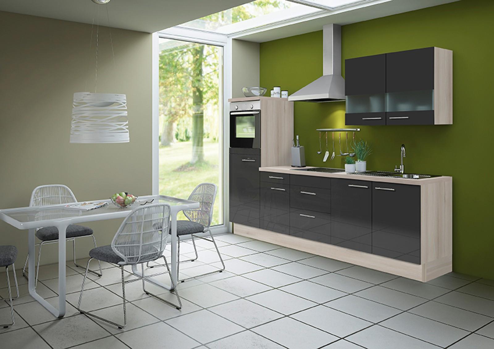 k chenzeile leon vario 8 k che mit e ger ten breite 270 cm braun k che k chenzeilen. Black Bedroom Furniture Sets. Home Design Ideas