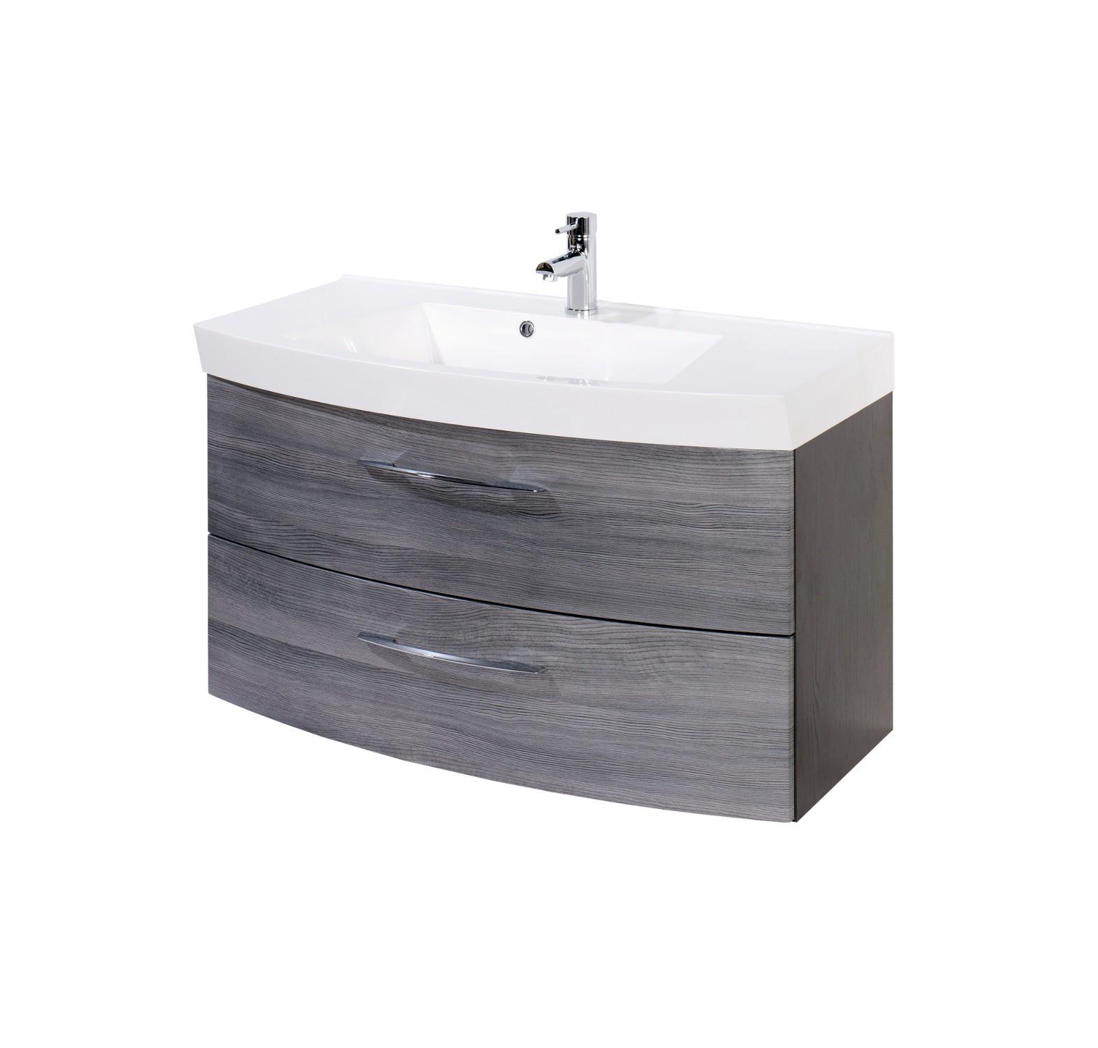 badmöbel-set florida - mit waschtisch und spiegelschrank - 6, Badezimmer