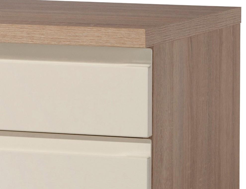 k chen eckunterschrank cardiff 1 t rig 110 cm breit hochglanz creme k che cardiff. Black Bedroom Furniture Sets. Home Design Ideas