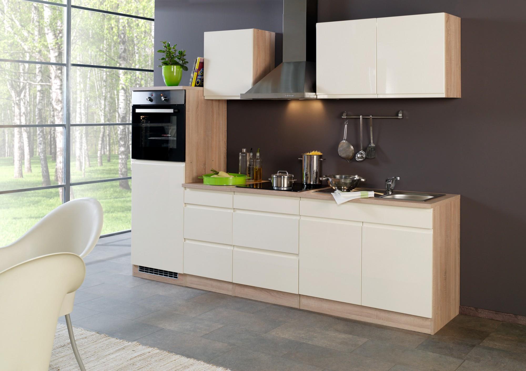 neu k chen unterschrank cardiff k chenschrank 50cm creme sonoma ebay. Black Bedroom Furniture Sets. Home Design Ideas