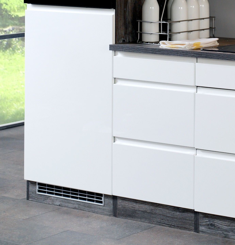 k chenzeile cardiff k chen leerblock breite 280 cm hochglanz wei k che cardiff. Black Bedroom Furniture Sets. Home Design Ideas