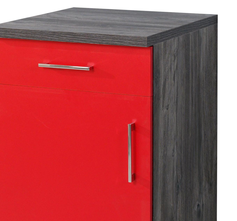 neu k chen unterschrank sevilla k chenschrank 50cm rot vintage ebay. Black Bedroom Furniture Sets. Home Design Ideas