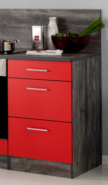 neu k chen leerblock k chenzeile sevilla k chenblock 220cm rot vintage ebay. Black Bedroom Furniture Sets. Home Design Ideas