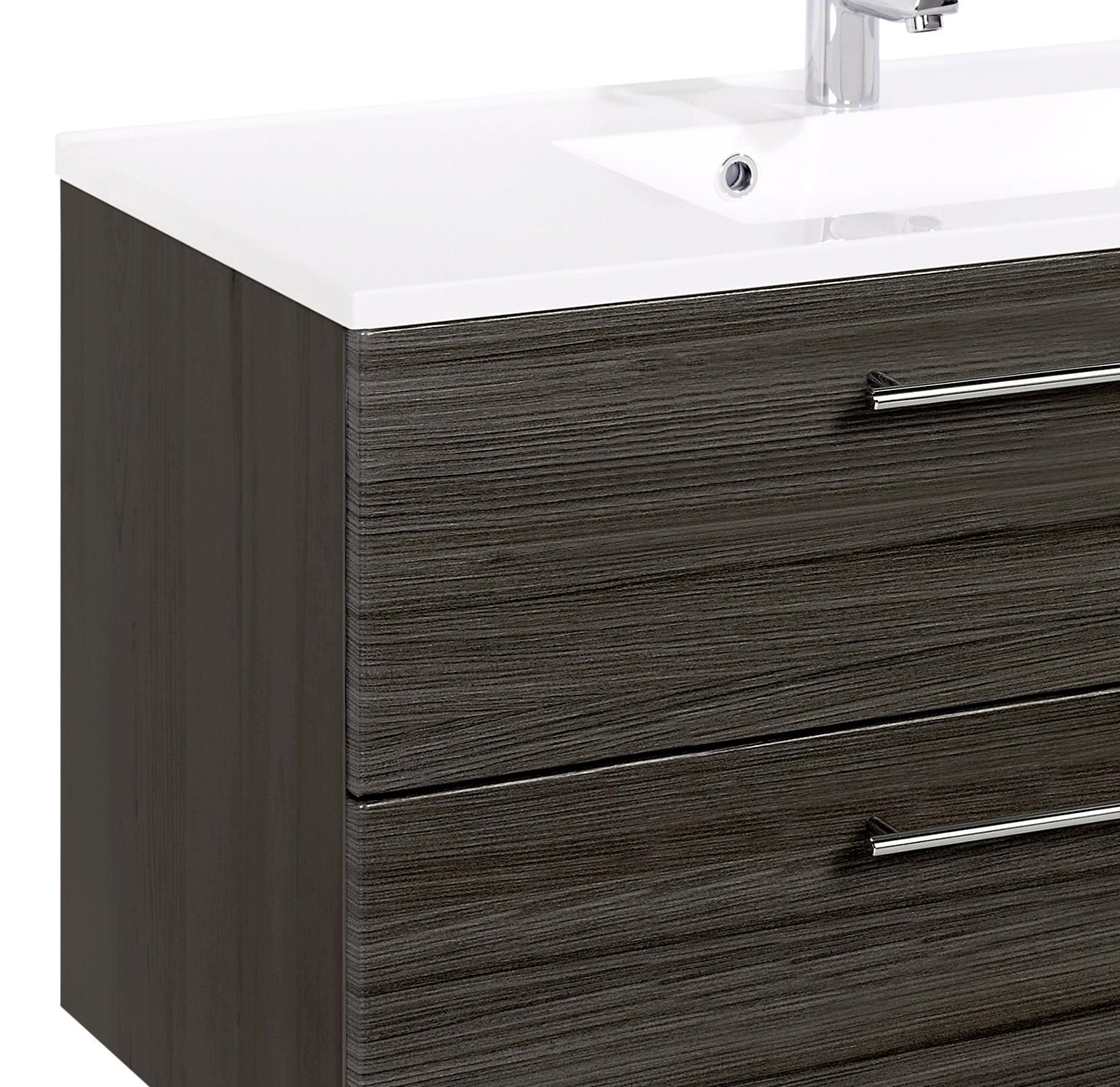 Neu Badmöbel-Set MAILAND - mit Waschtisch - 4-teilig - 100 cm breit  BI36