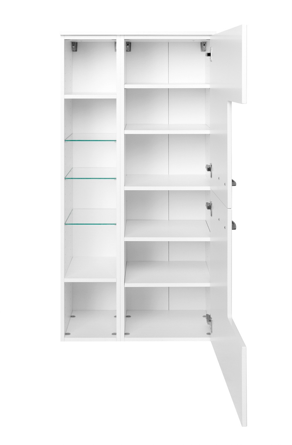 neu badezimmer midischrank florida midi highboard badezimmerschrank weiss ebay. Black Bedroom Furniture Sets. Home Design Ideas