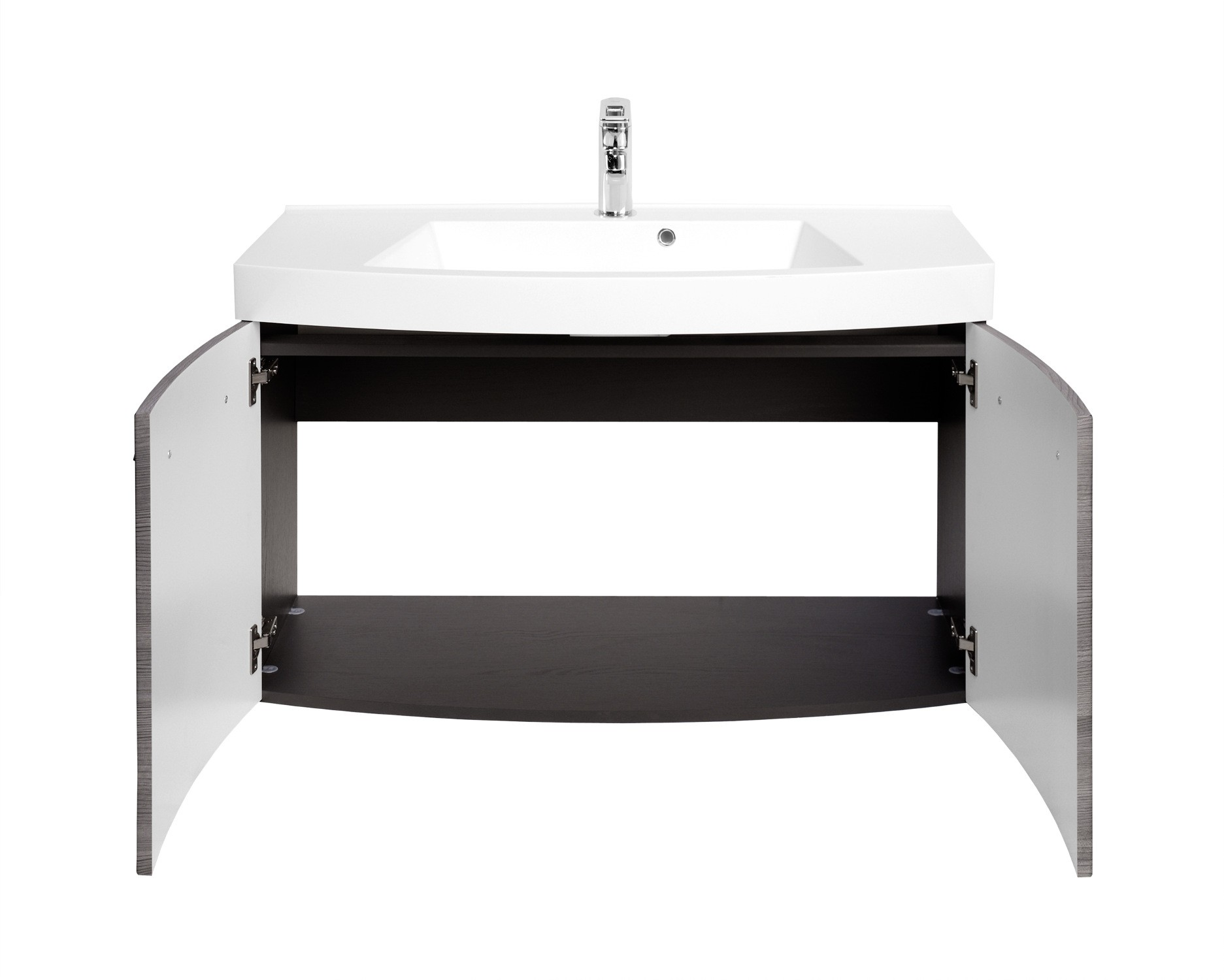 badm bel set florida mit waschtisch und spiegelschrank 6 teilig 205 cm breit eiche. Black Bedroom Furniture Sets. Home Design Ideas