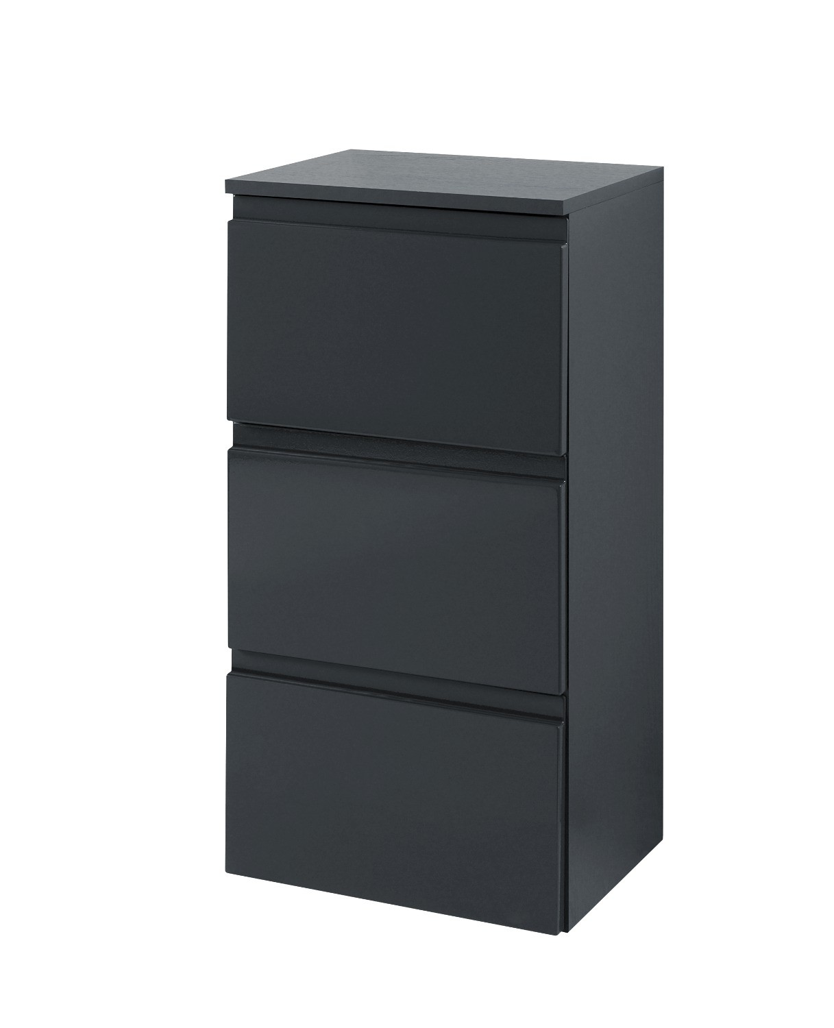 bad unterschrank cardiff 3 schubladen 40 cm breit hochglanz grau bad cardiff. Black Bedroom Furniture Sets. Home Design Ideas