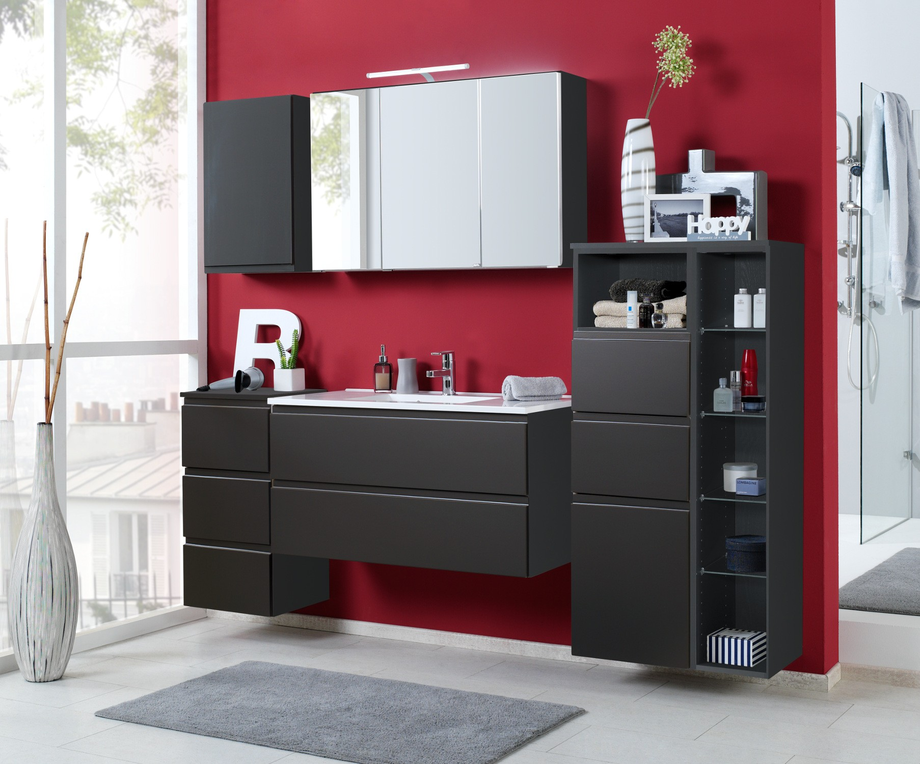 badm bel set cardiff mit waschtisch 7 teilig 205 cm. Black Bedroom Furniture Sets. Home Design Ideas