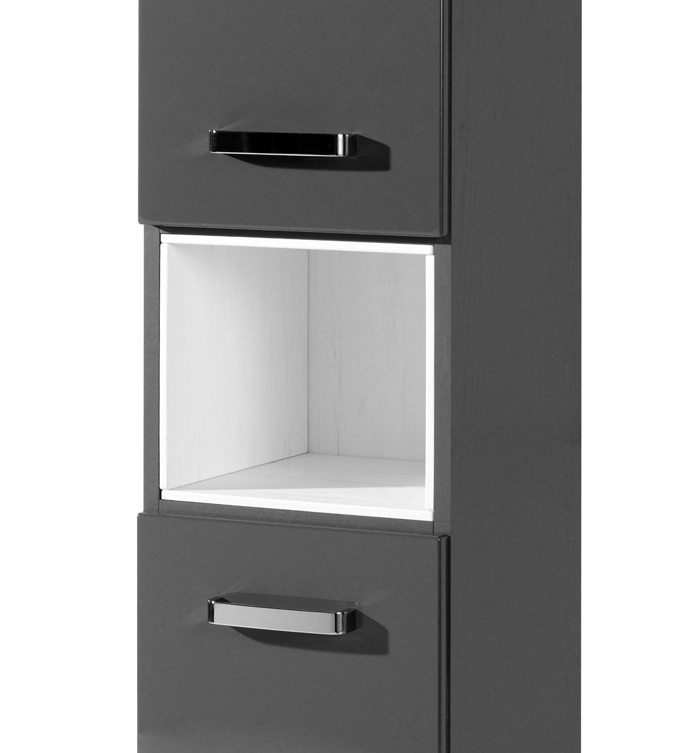 neu badezimmer hochschrank ancona badschrank mit 2 t ren seitenschrank 30cm grau ebay. Black Bedroom Furniture Sets. Home Design Ideas