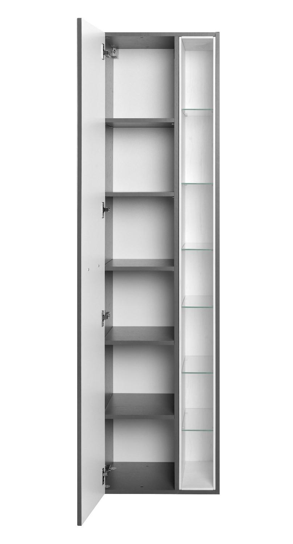 Badmöbel hochschrank  Bad-Hochschrank ANCONA - 1-türig, 7 Regalfächer - 45 cm breit ...