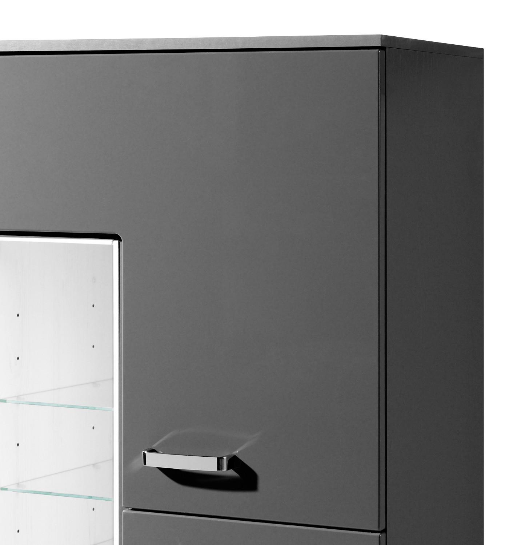 bad midischrank ancona 2 t rig 4 regalf cher 65 cm breit hochglanz grau bad ancona. Black Bedroom Furniture Sets. Home Design Ideas