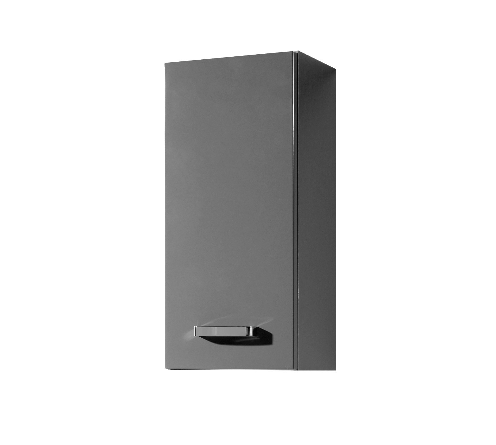 bad h ngeschrank ancona 1 t rig 30 cm breit hochglanz grau bad ancona. Black Bedroom Furniture Sets. Home Design Ideas