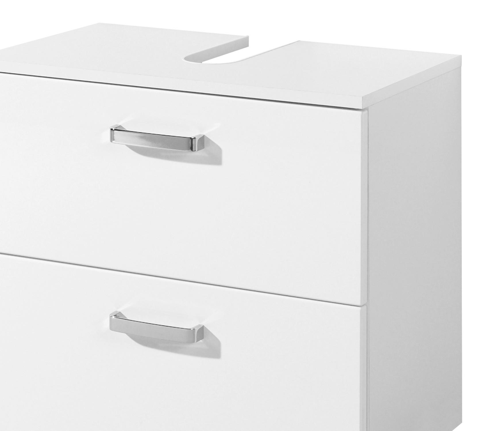 bad waschbeckenunterschrank ancona 1 auszug 1 klappe 60 cm breit hochglanz wei bad ancona. Black Bedroom Furniture Sets. Home Design Ideas