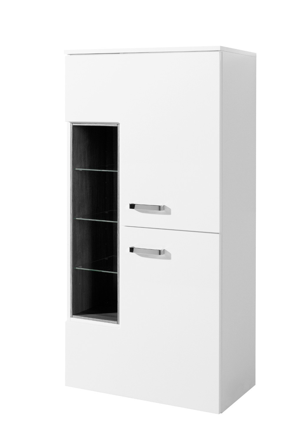 neu badezimmer midischrank ancona midi highboard badezimmerschrank 65 cm weiss ebay. Black Bedroom Furniture Sets. Home Design Ideas