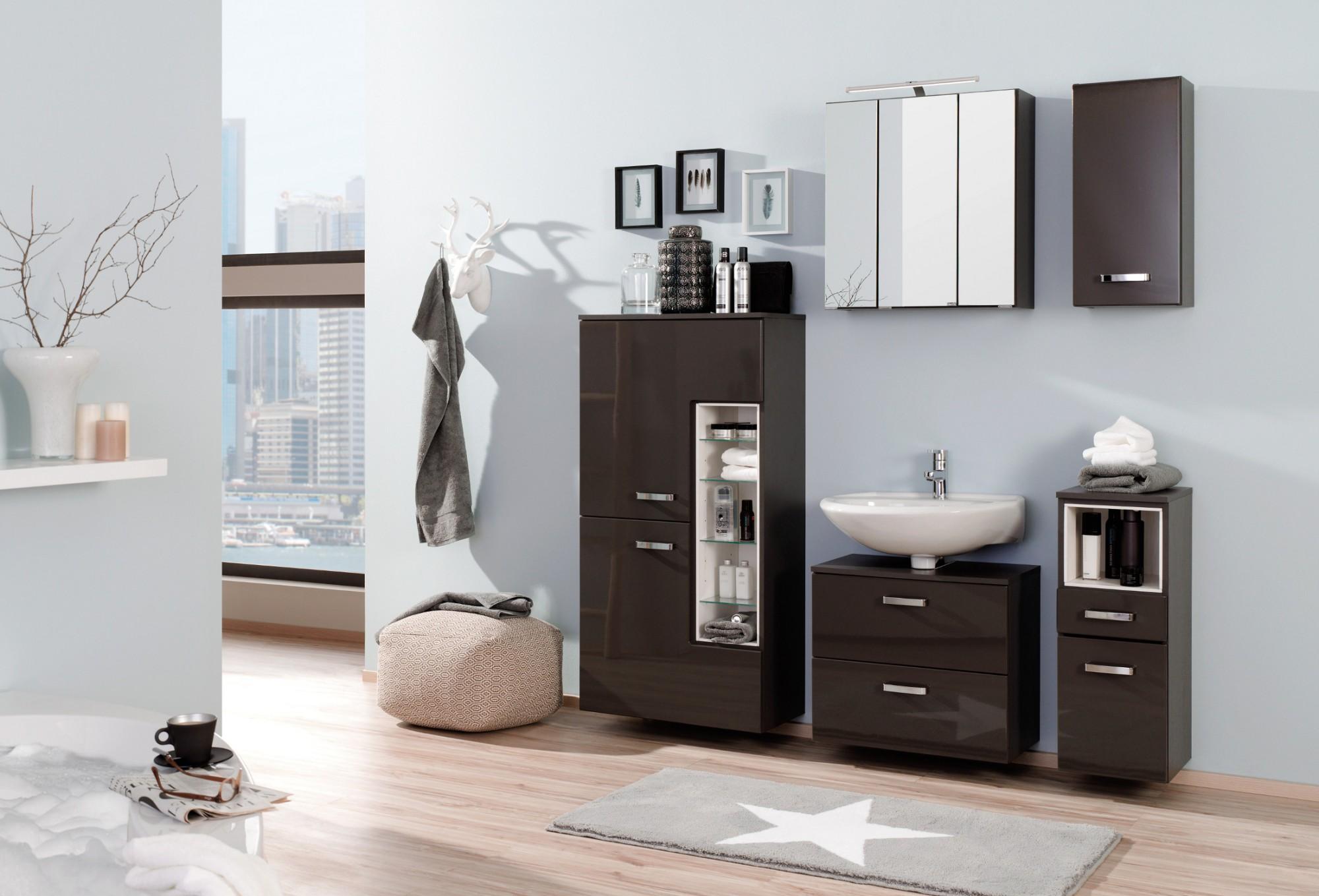 Badezimmermöbel weiß grau  Beste Ideen, Design, Schnappschuss & Beispiele von Moderne ...